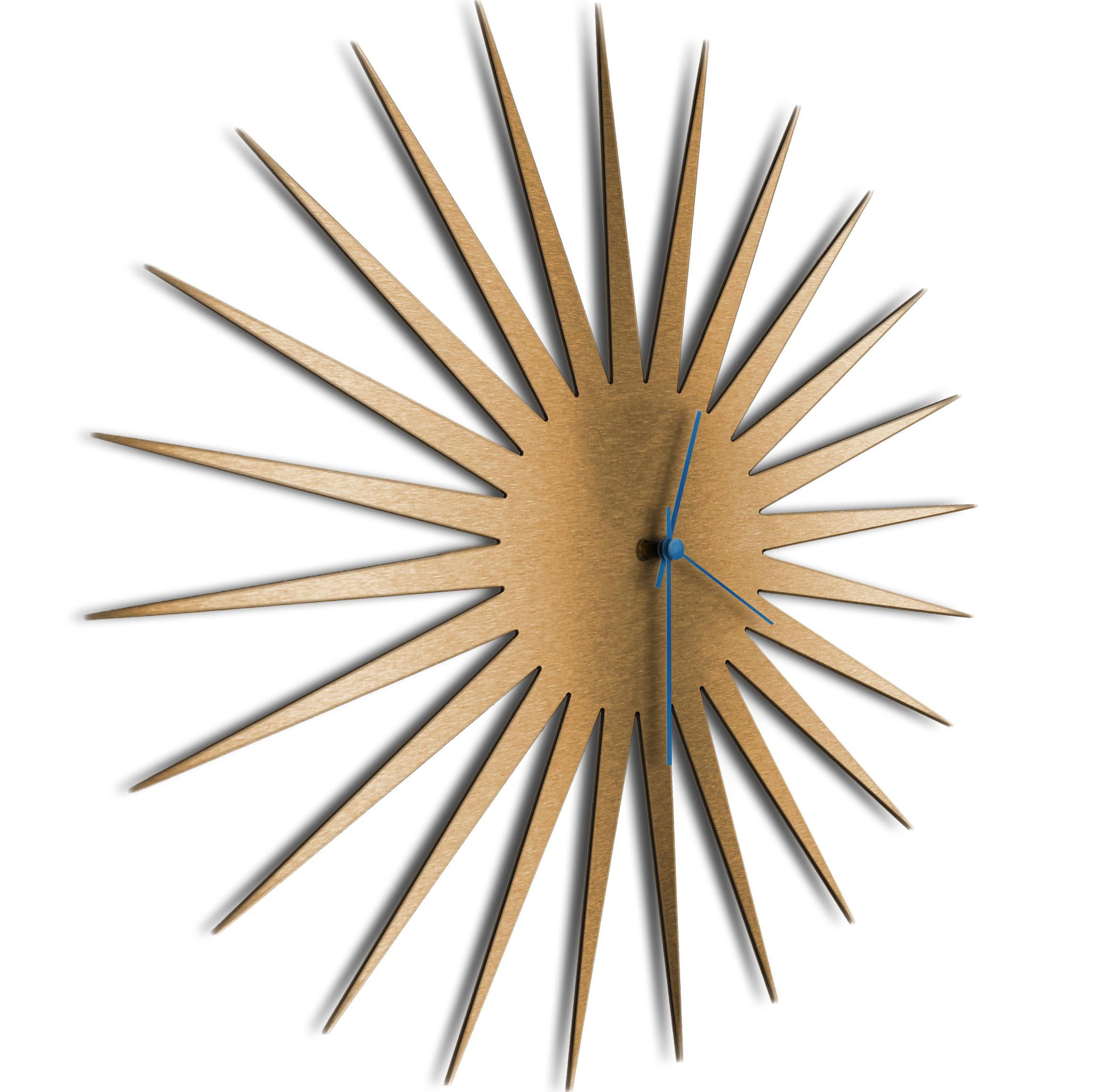MCM Starburst Clock Bronze Blue - Image 2