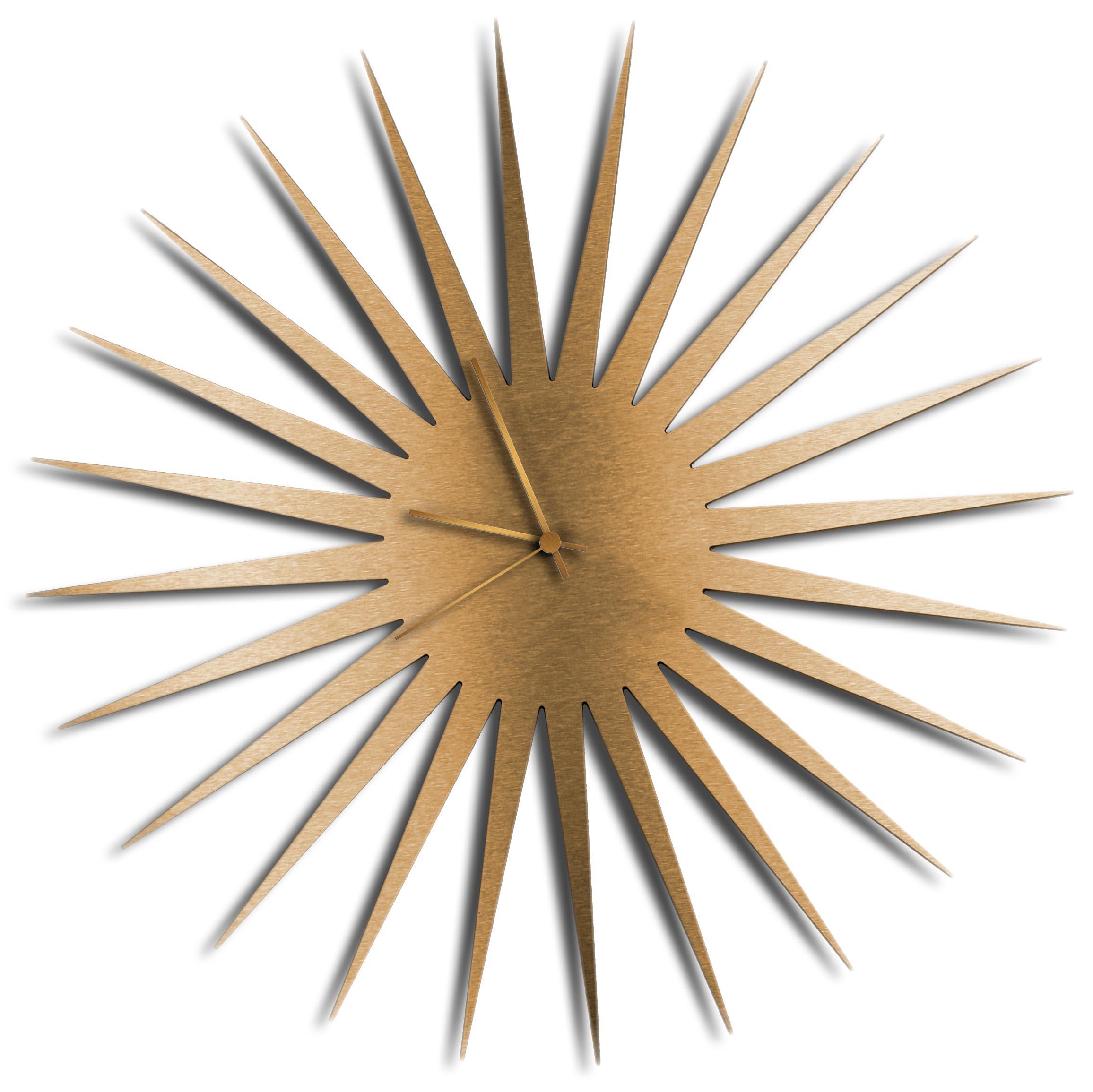 Adam Schwoeppe 'MCM Starburst Clock Bronze Bronze' Midcentury Modern Style Wall Clock