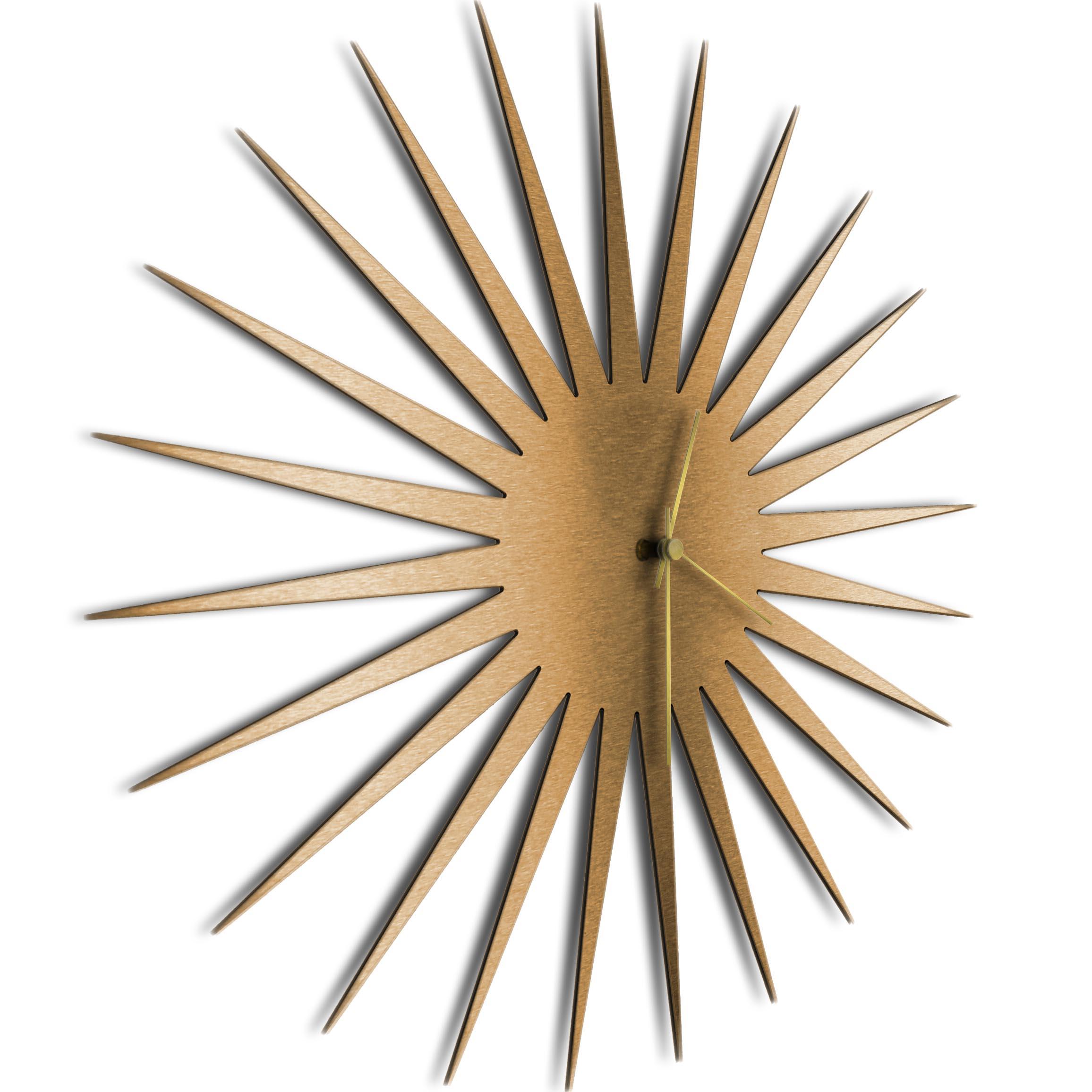 MCM Starburst Clock Bronze Gold - Image 2
