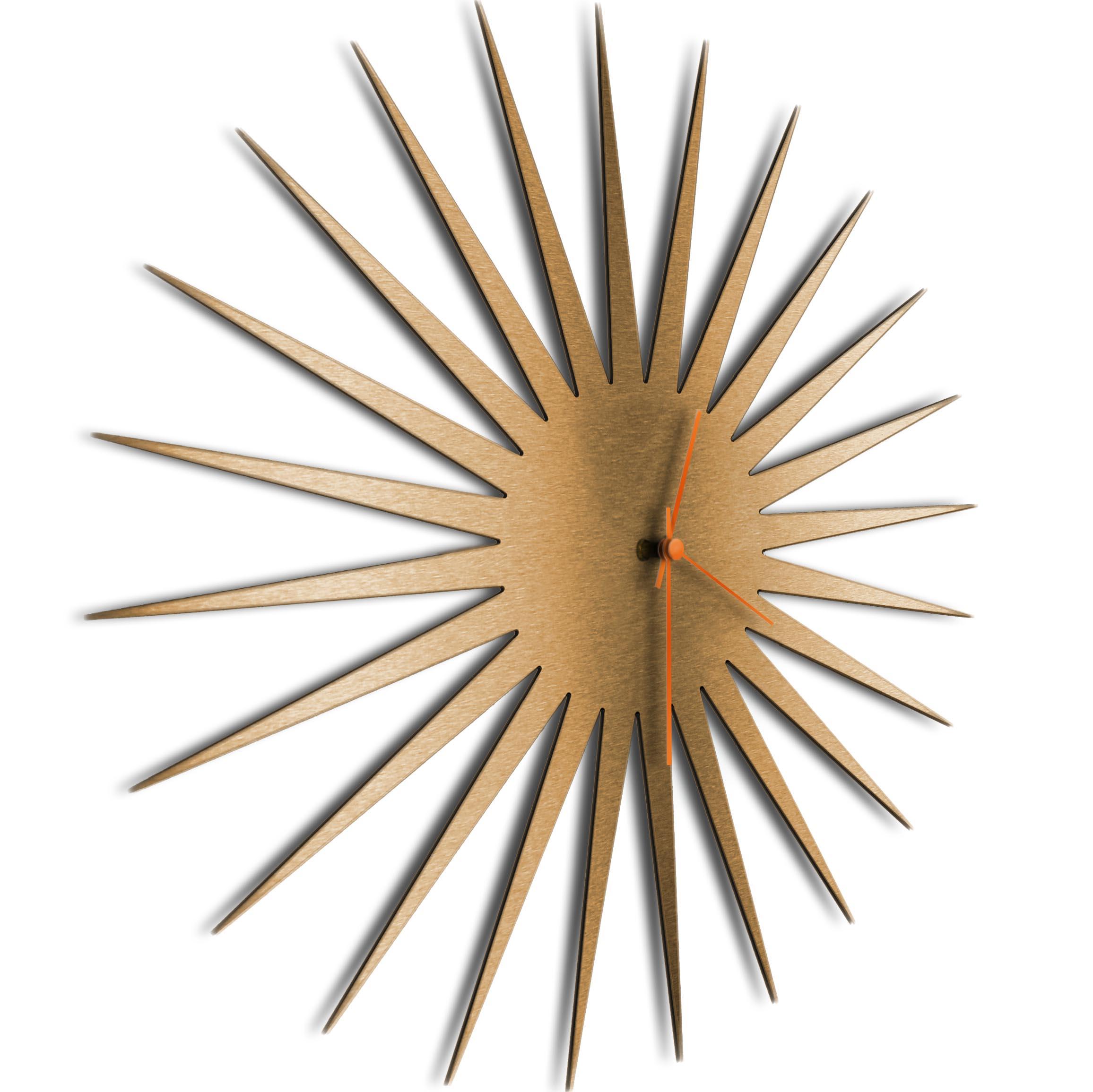 MCM Starburst Clock Bronze Orange - Image 2