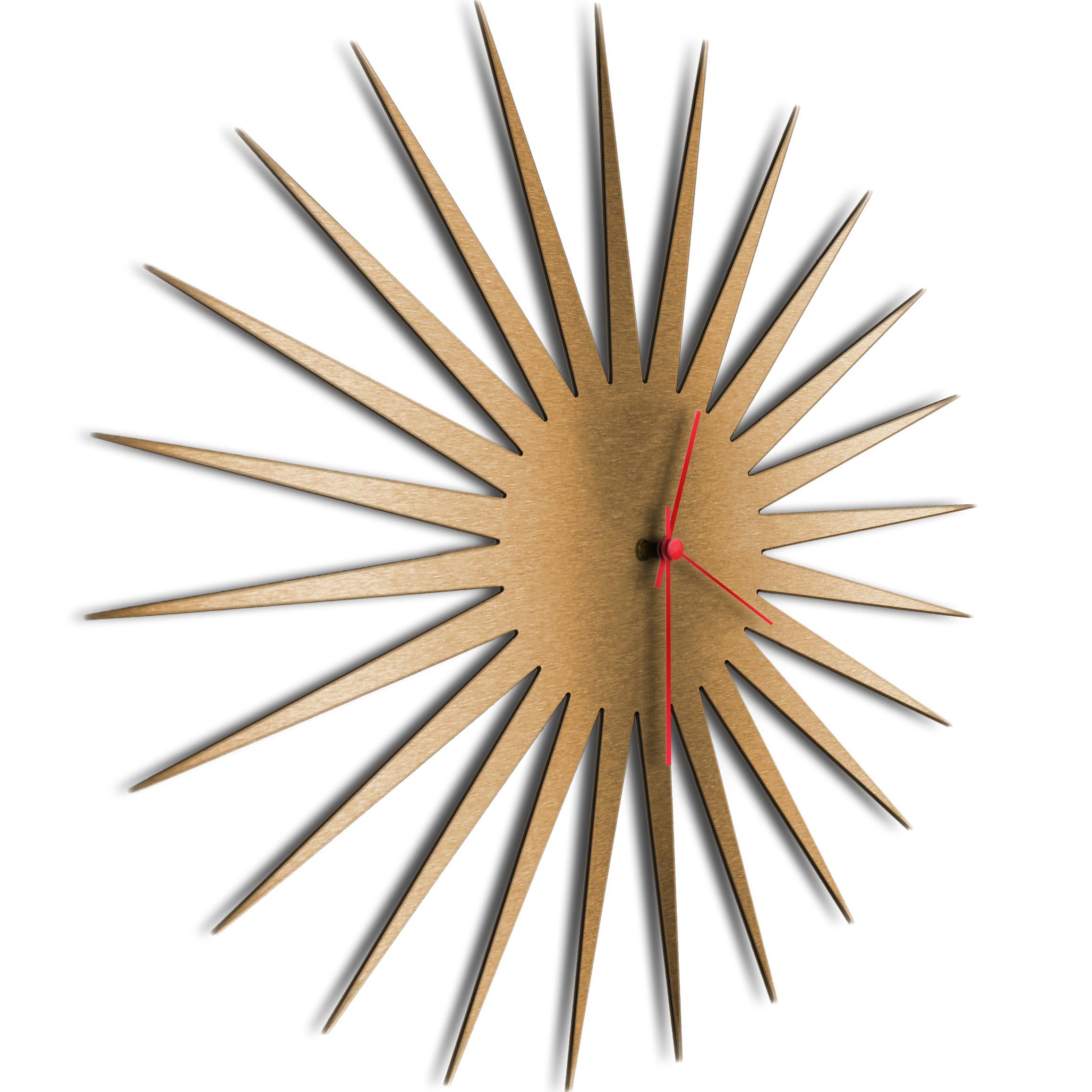 MCM Starburst Clock Bronze Red - Image 2