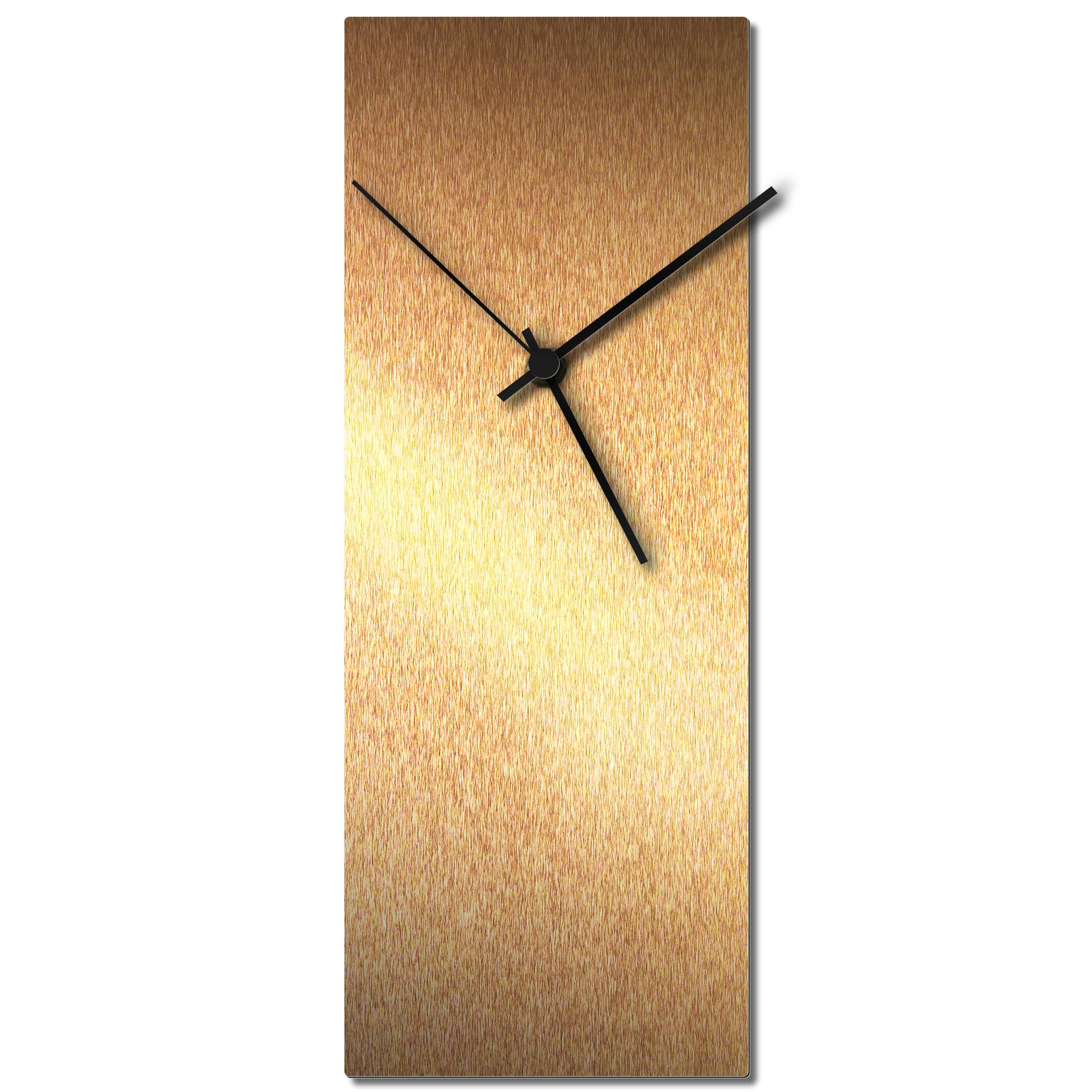 Adam Schwoeppe 'Bronzesmith Clock Black' Midcentury Modern Style Wall Clock