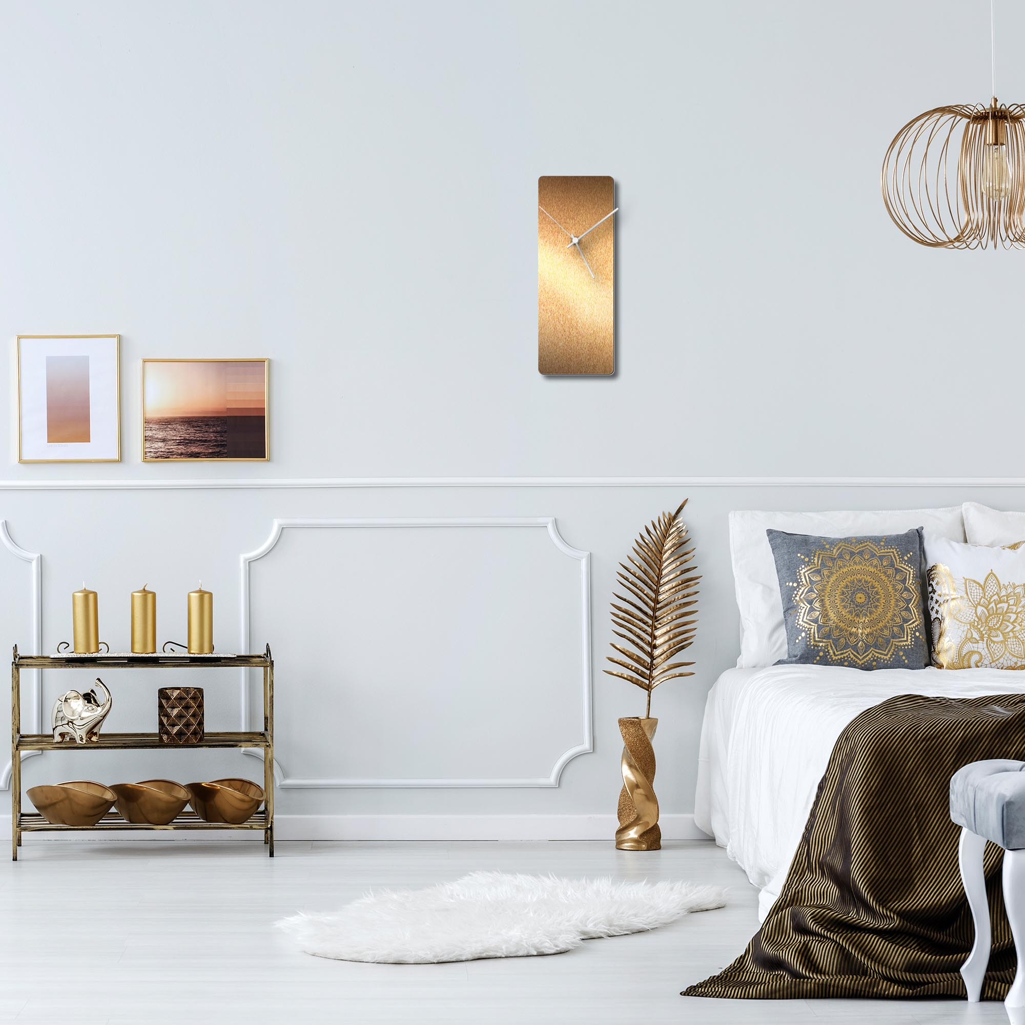 Bronzesmith Clock White - Lifestyle View
