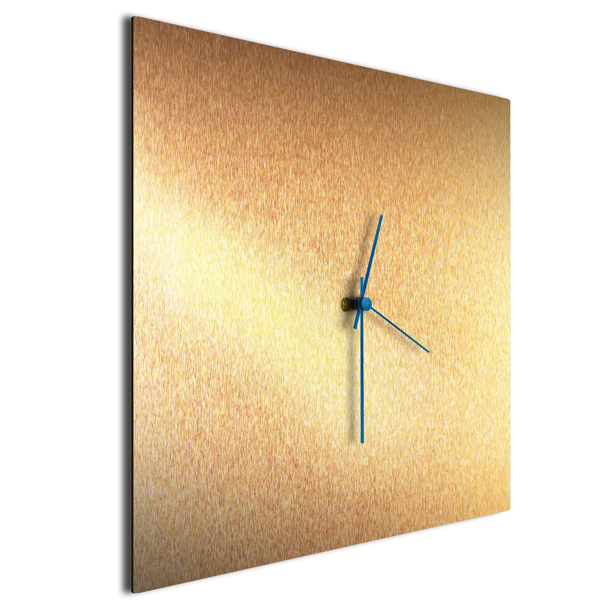Bronzesmith Square Clock Blue - Image 2