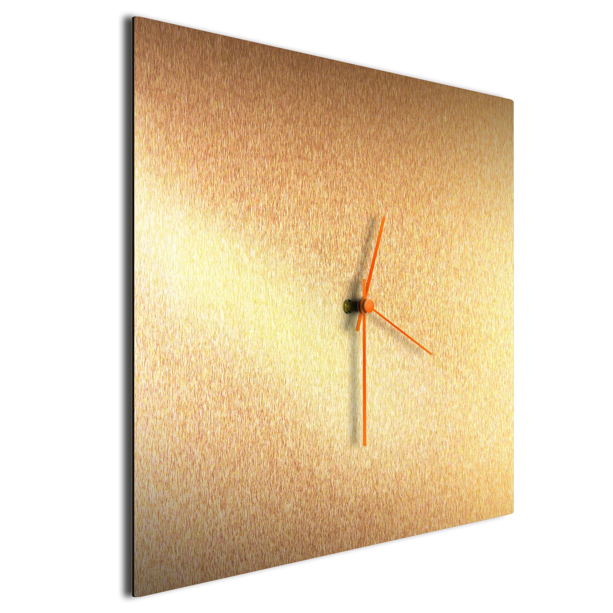 Bronzesmith Square Clock Large Orange - Image 2