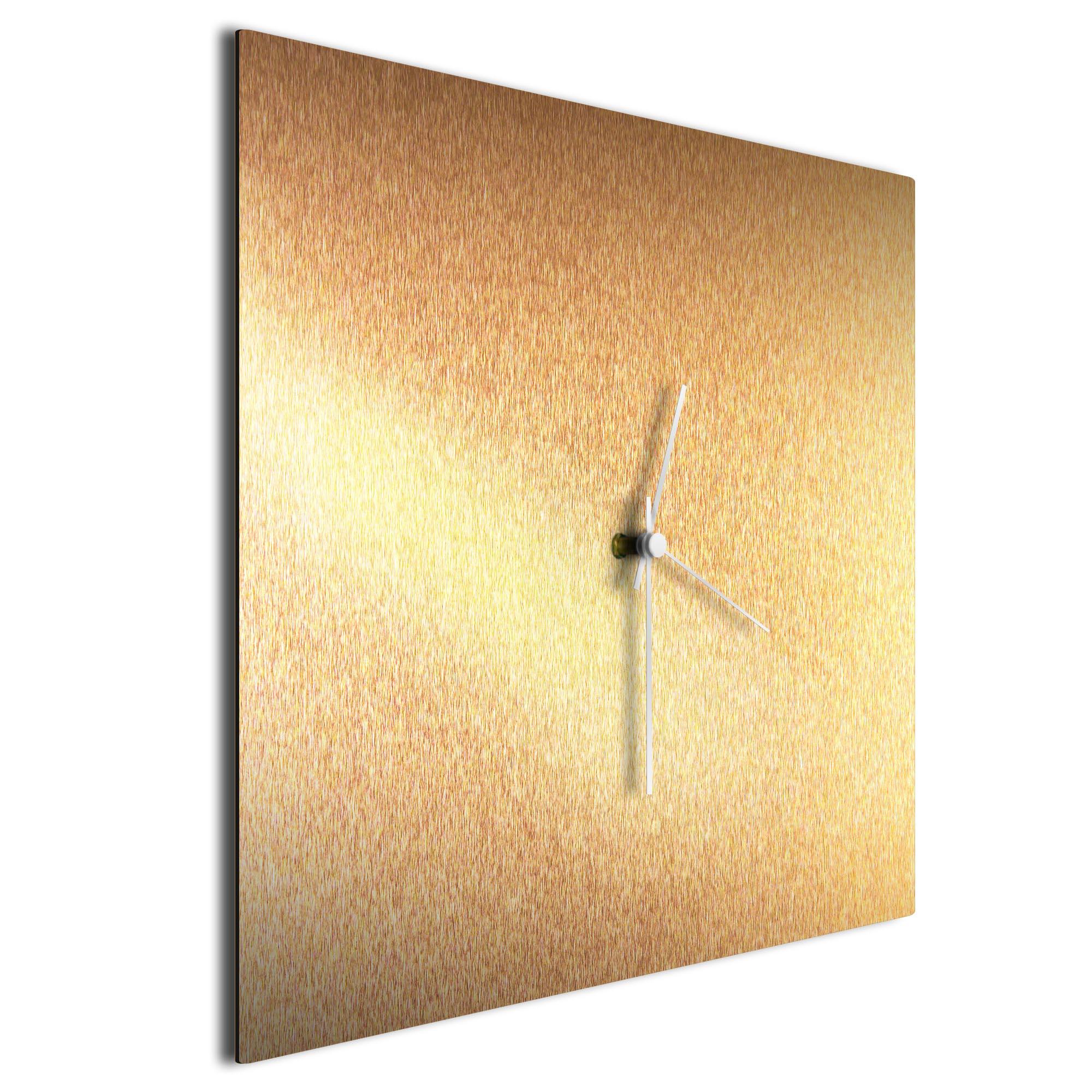 Bronzesmith Square Clock Large White - Image 2