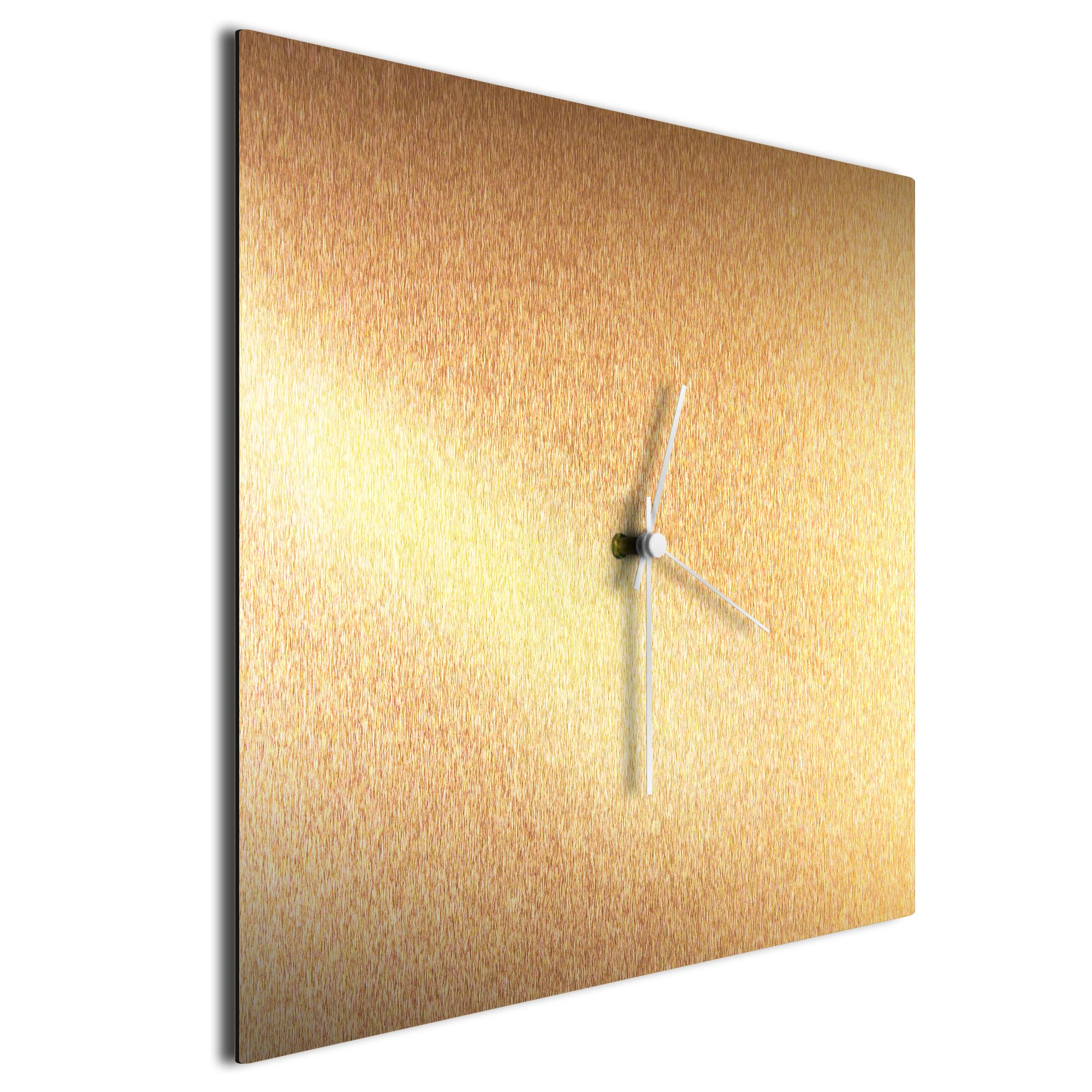 Bronzesmith Square Clock White - Image 2