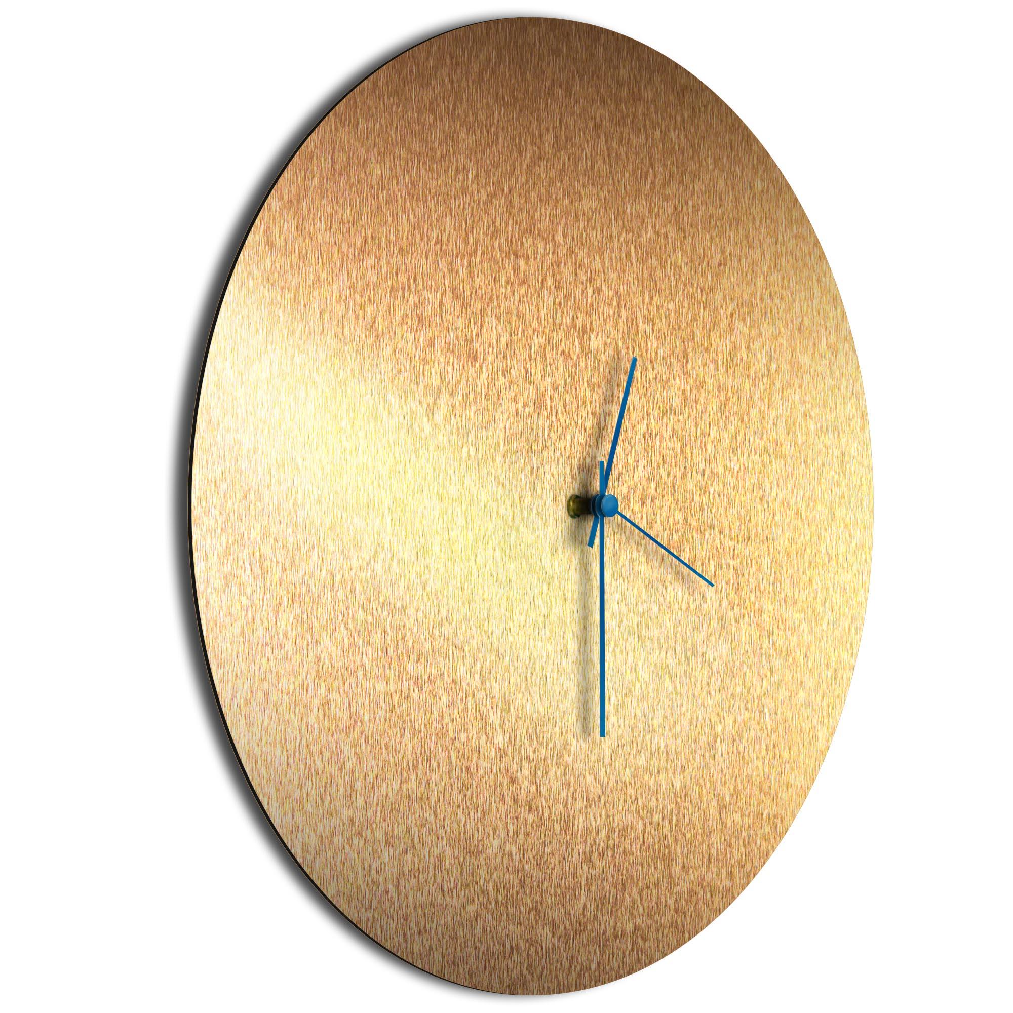Bronzesmith Circle Clock Blue - Image 2