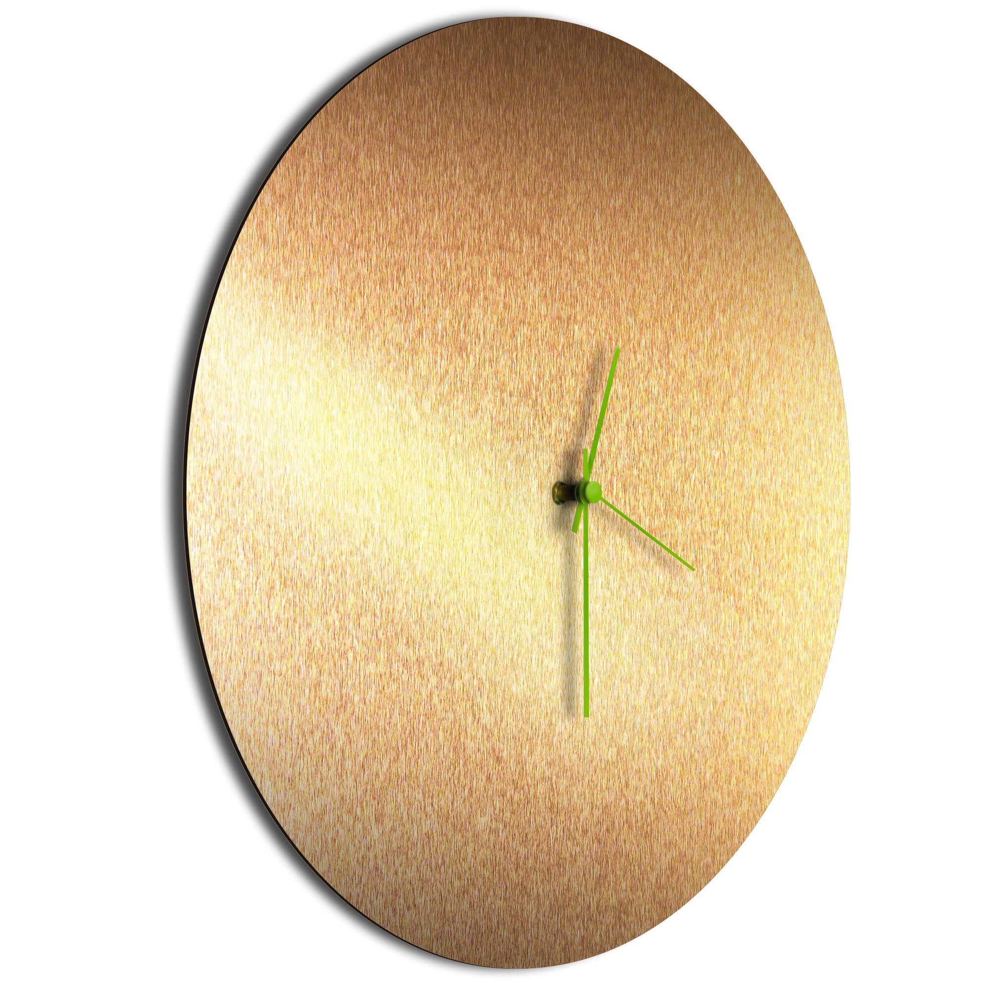 Bronzesmith Circle Clock Large Green - Image 2