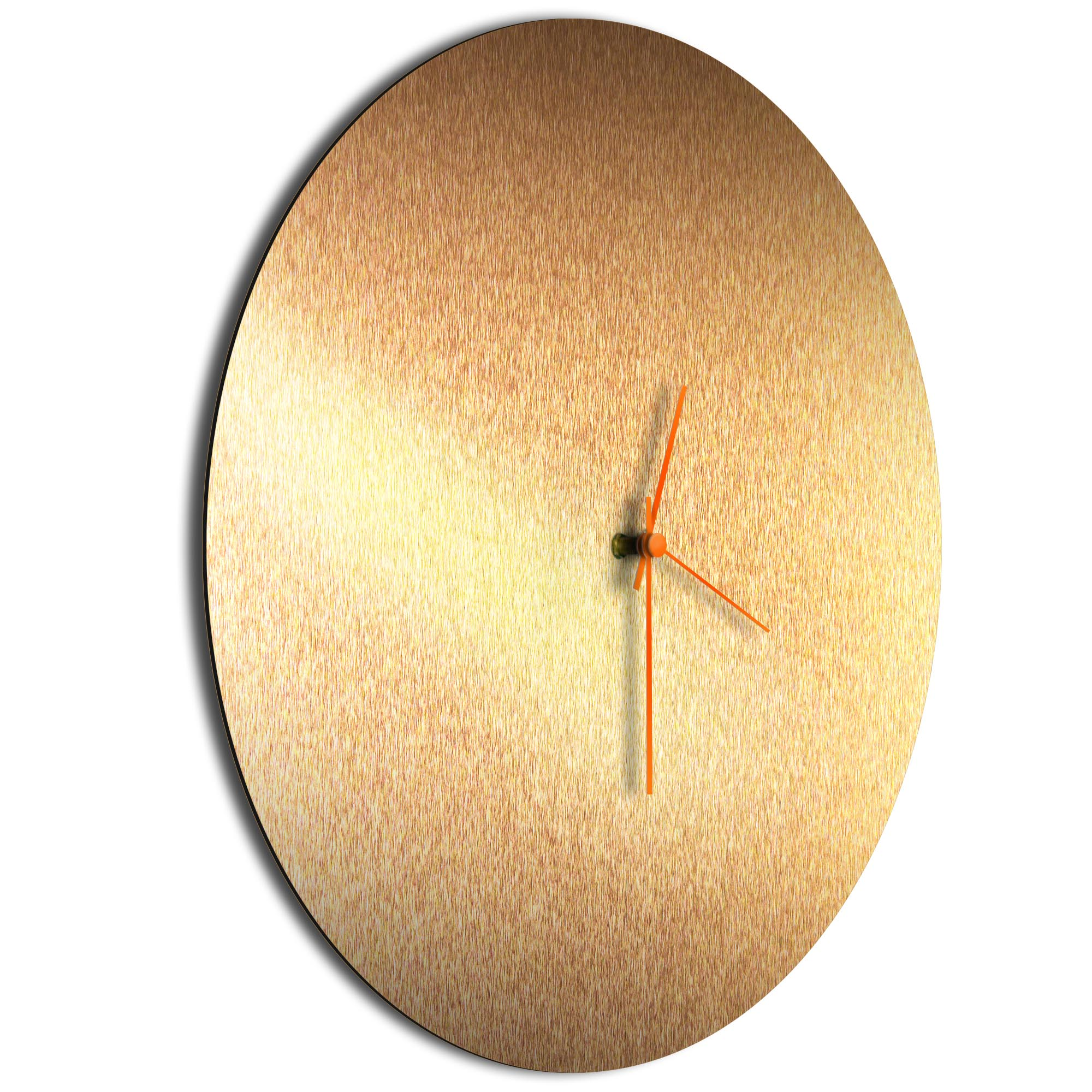Bronzesmith Circle Clock Large Orange - Image 2