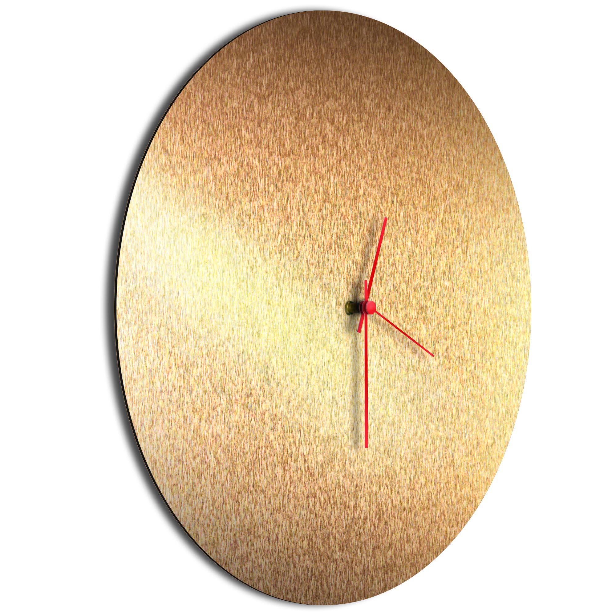 Bronzesmith Circle Clock Large Red - Image 2