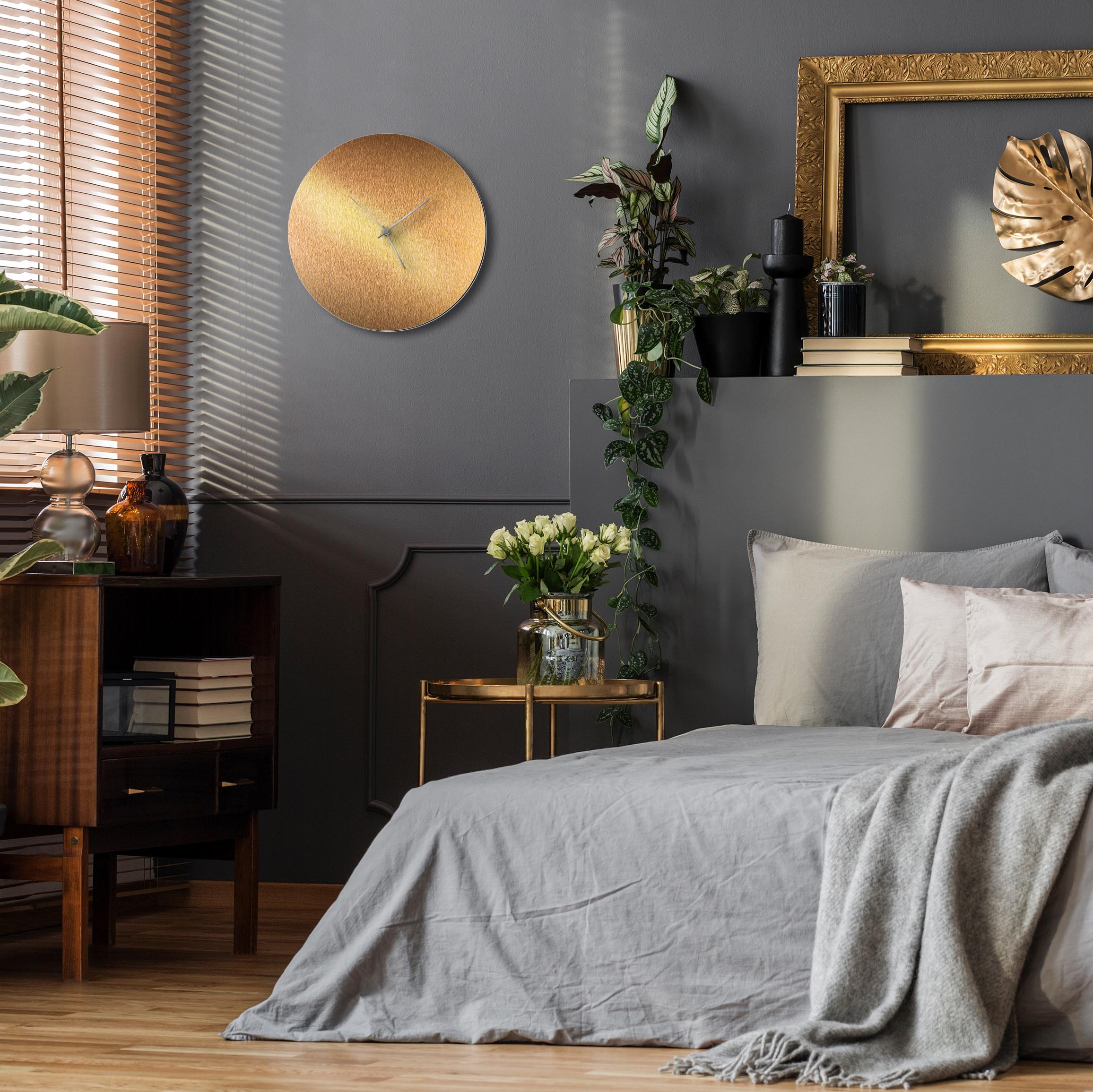 Bronzesmith Circle Clock Silver - Lifestyle View