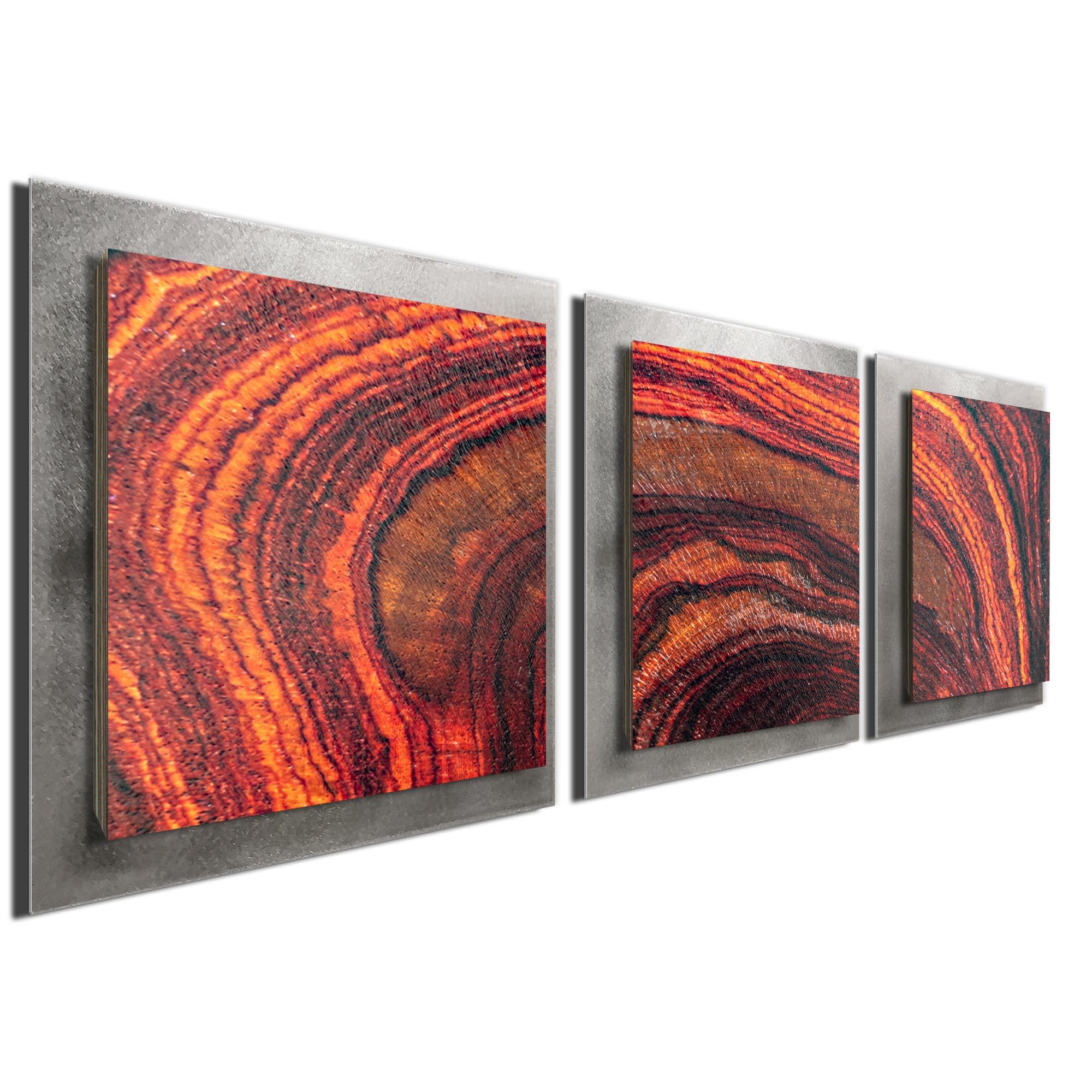 Arched Wood Essence Silver by Adam Schwoeppe Rustic Modern Style Wood Wall Art - Image 2