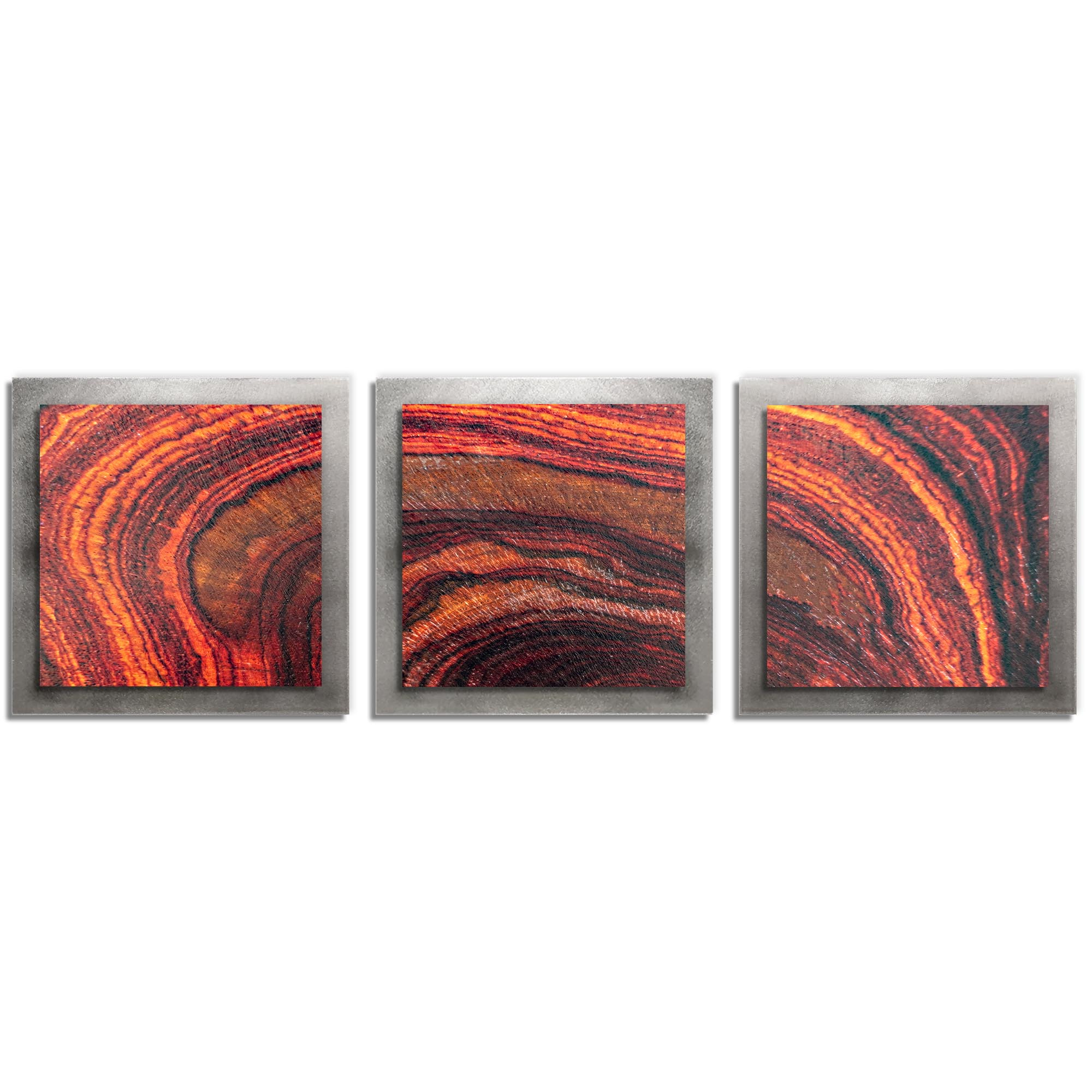 Adam Schwoeppe 'Arched Wood Essence Silver' 38in x 12in Contemporary Style Wood Wall Art