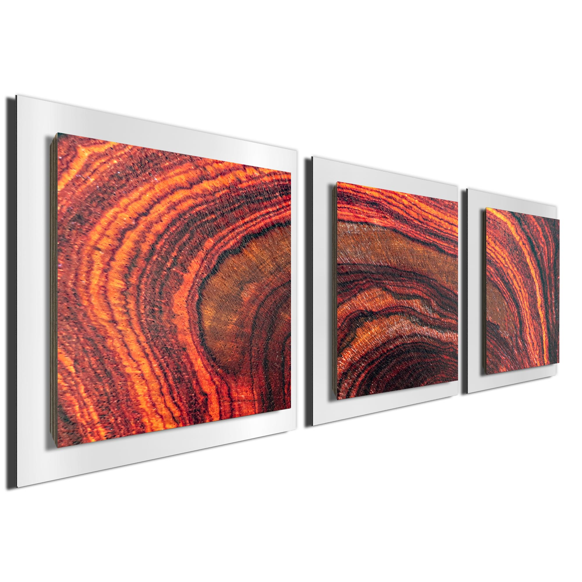 Arched Wood Essence White by Adam Schwoeppe Rustic Modern Style Wood Wall Art - Image 2