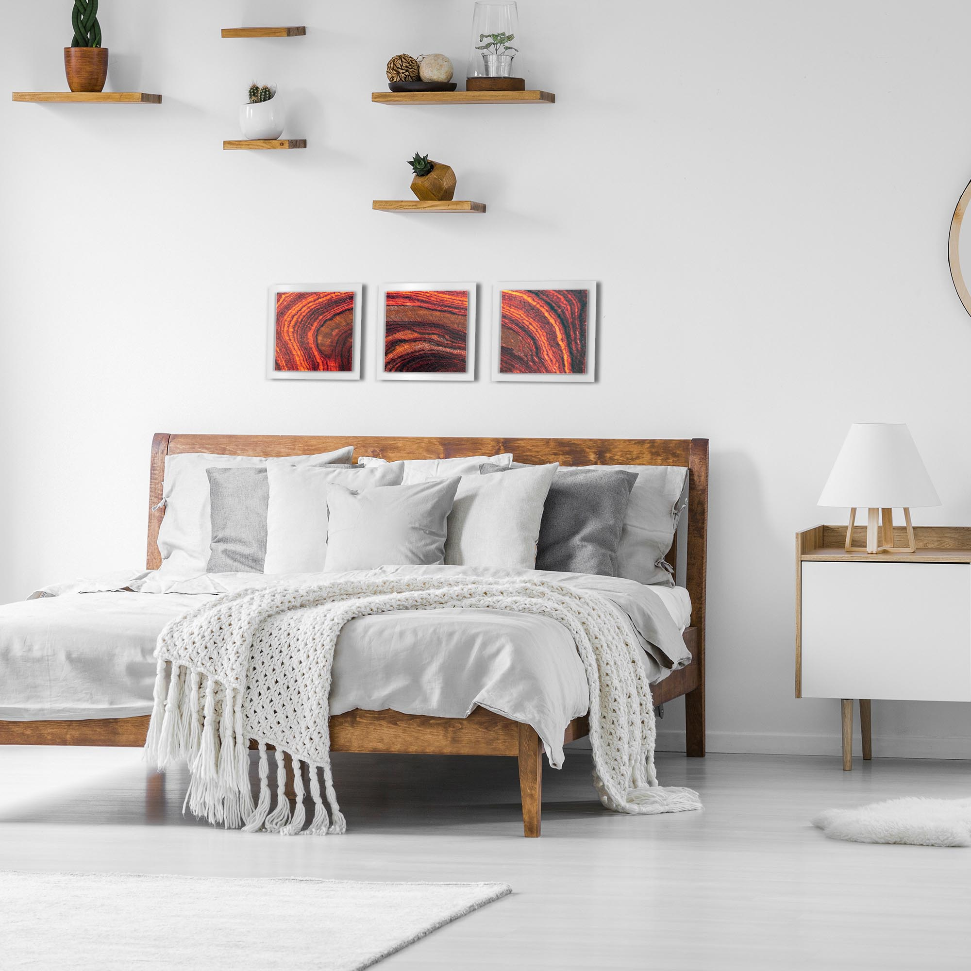 Arched Wood Essence White by Adam Schwoeppe Rustic Modern Style Wood Wall Art - Lifestyle View