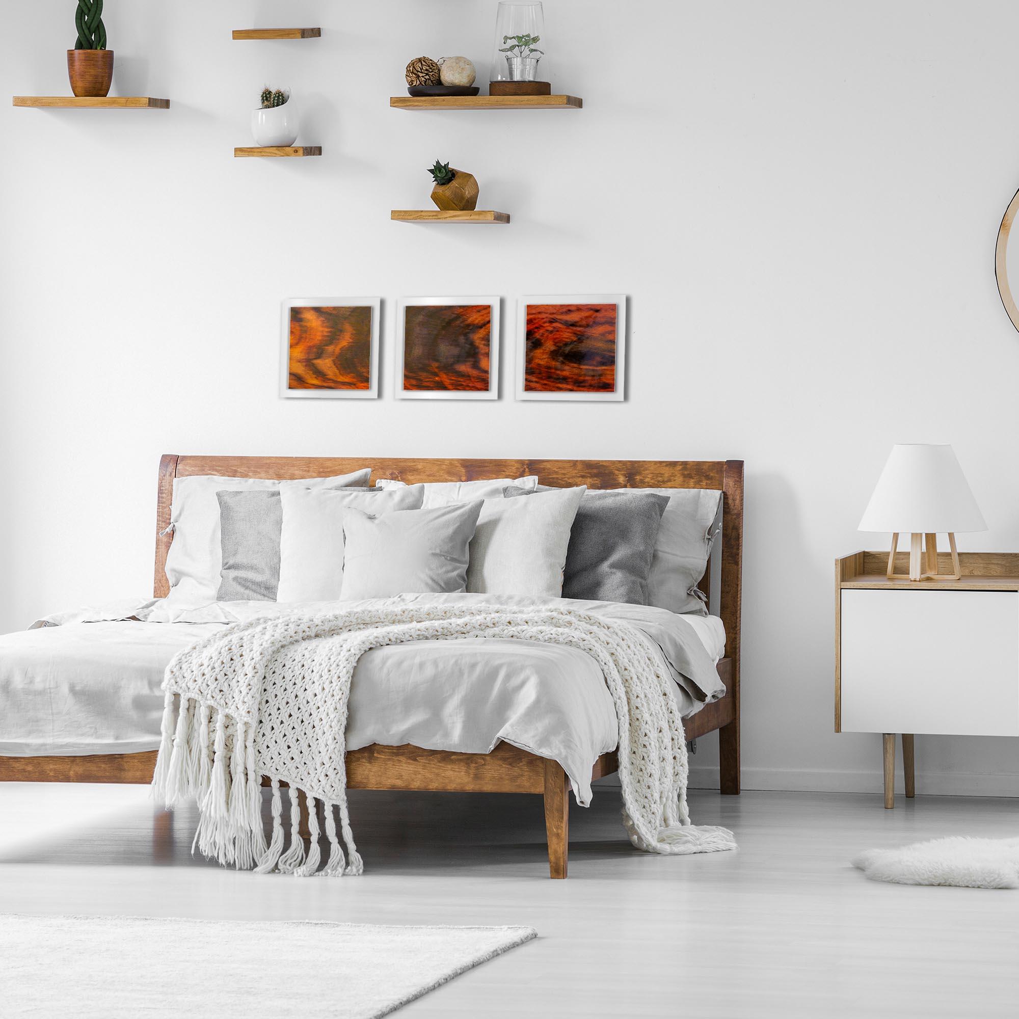 Burnt Wood Essence White by Adam Schwoeppe Rustic Modern Style Wood Wall Art - Lifestyle View