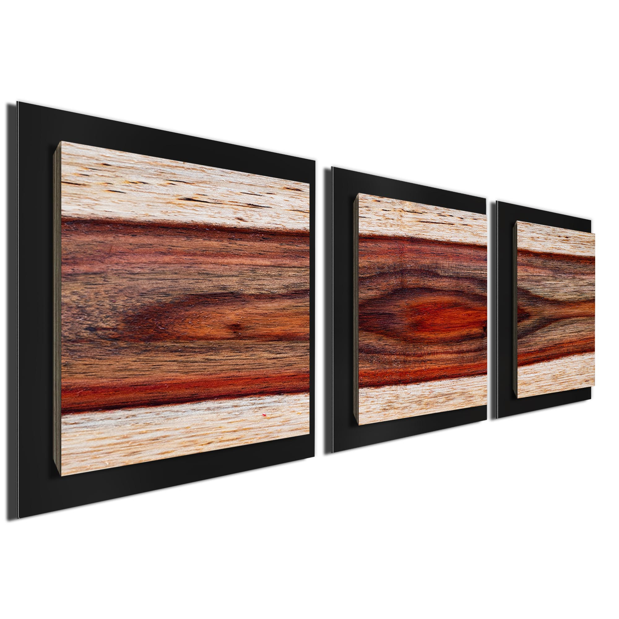 Auburn Wood Essence Black by Adam Schwoeppe Rustic Modern Style Wood Wall Art - Image 2