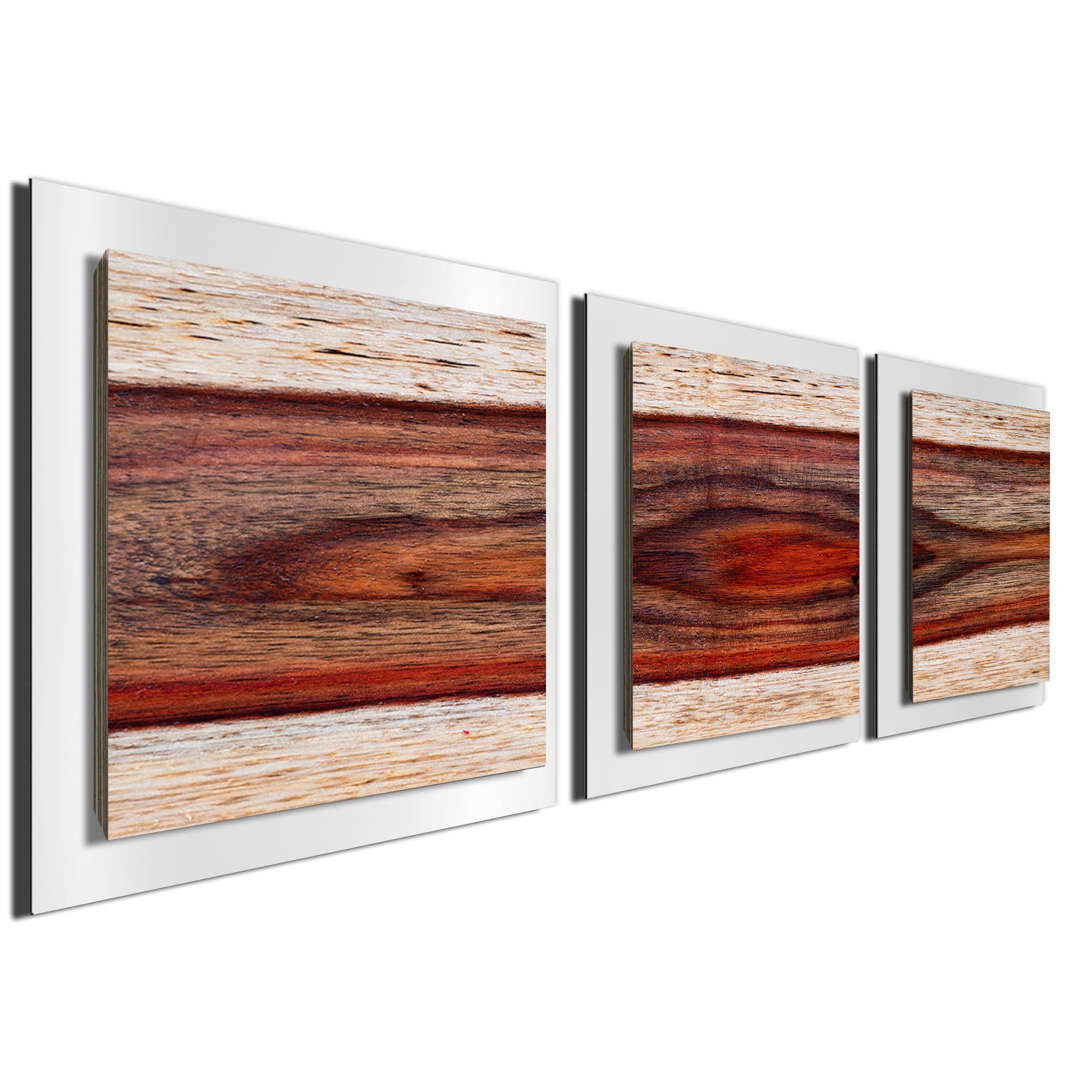 Auburn Wood Essence White by Adam Schwoeppe Rustic Modern Style Wood Wall Art - Image 2