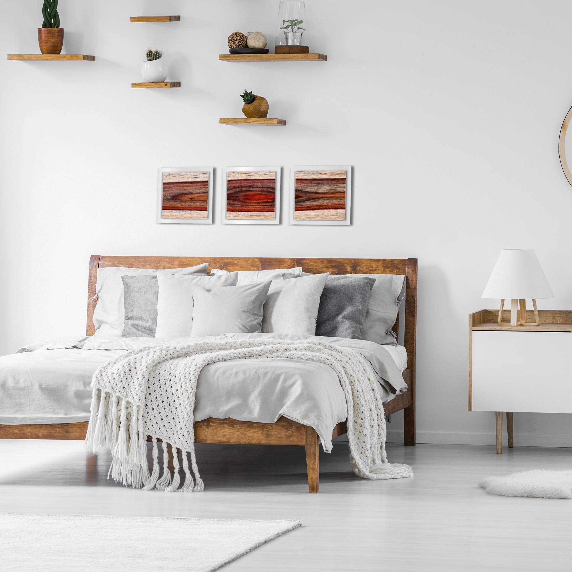 Auburn Wood Essence White by Adam Schwoeppe Rustic Modern Style Wood Wall Art - Lifestyle View
