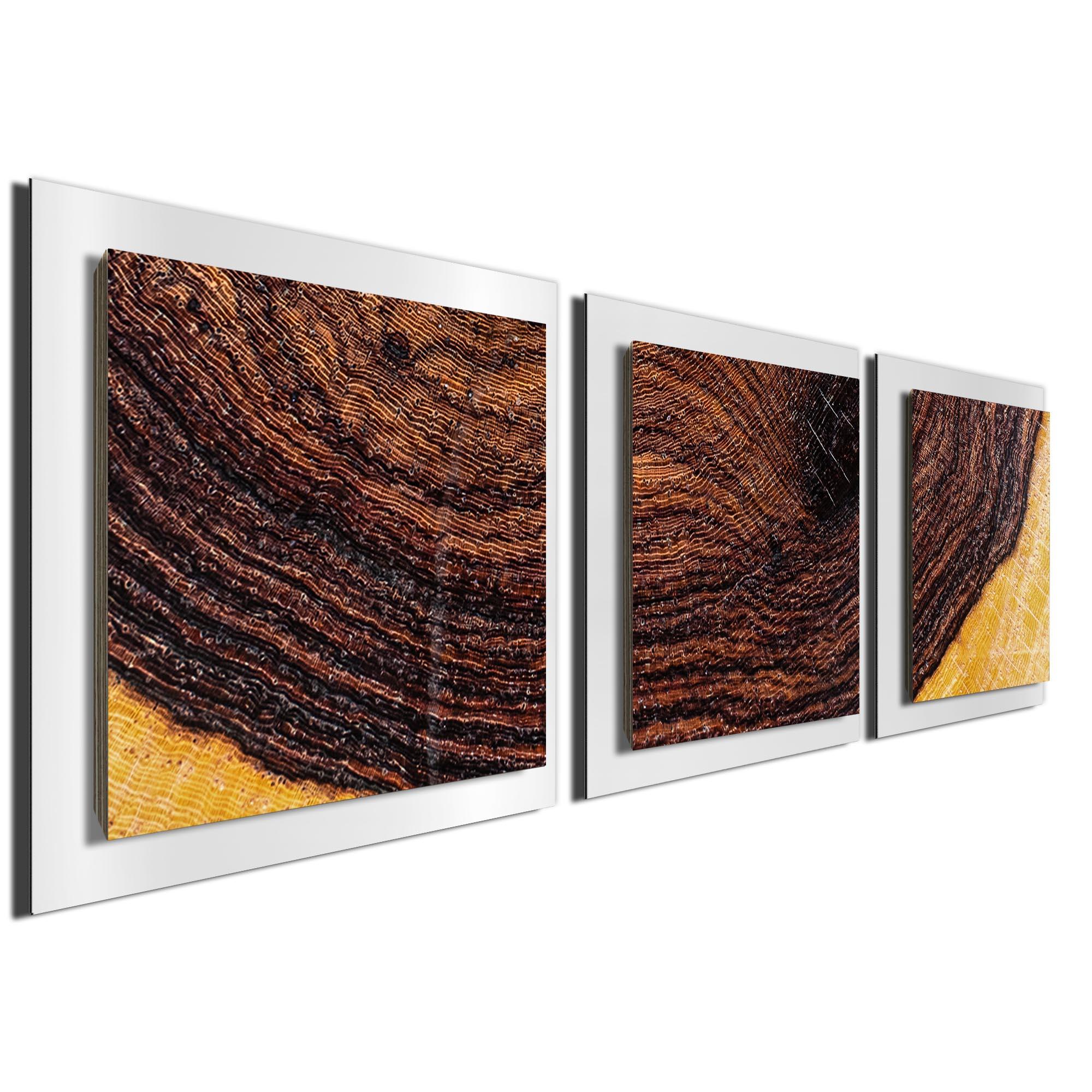Bold Wood Essence White by Adam Schwoeppe Rustic Modern Style Wood Wall Art - Image 2