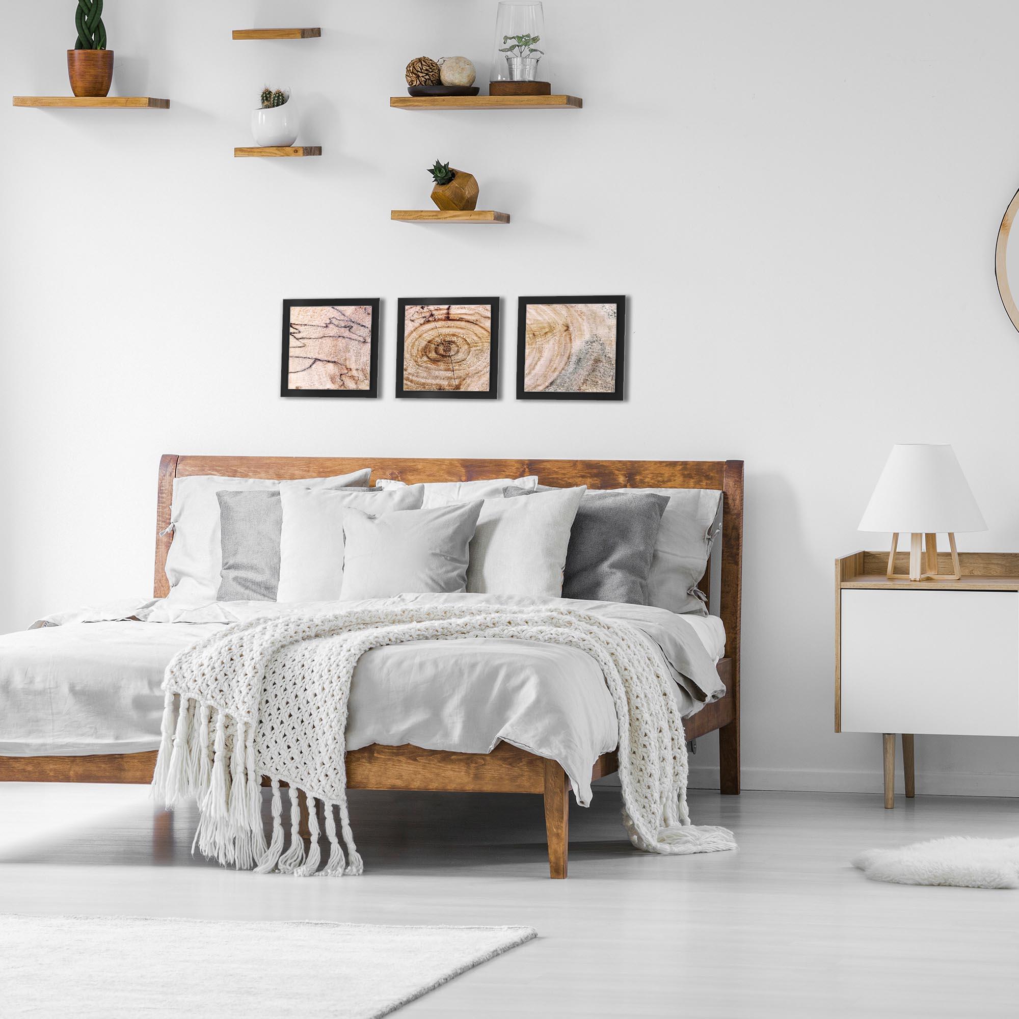 Aged Wood Essence Black by Adam Schwoeppe Rustic Modern Style Wood Wall Art - Lifestyle View