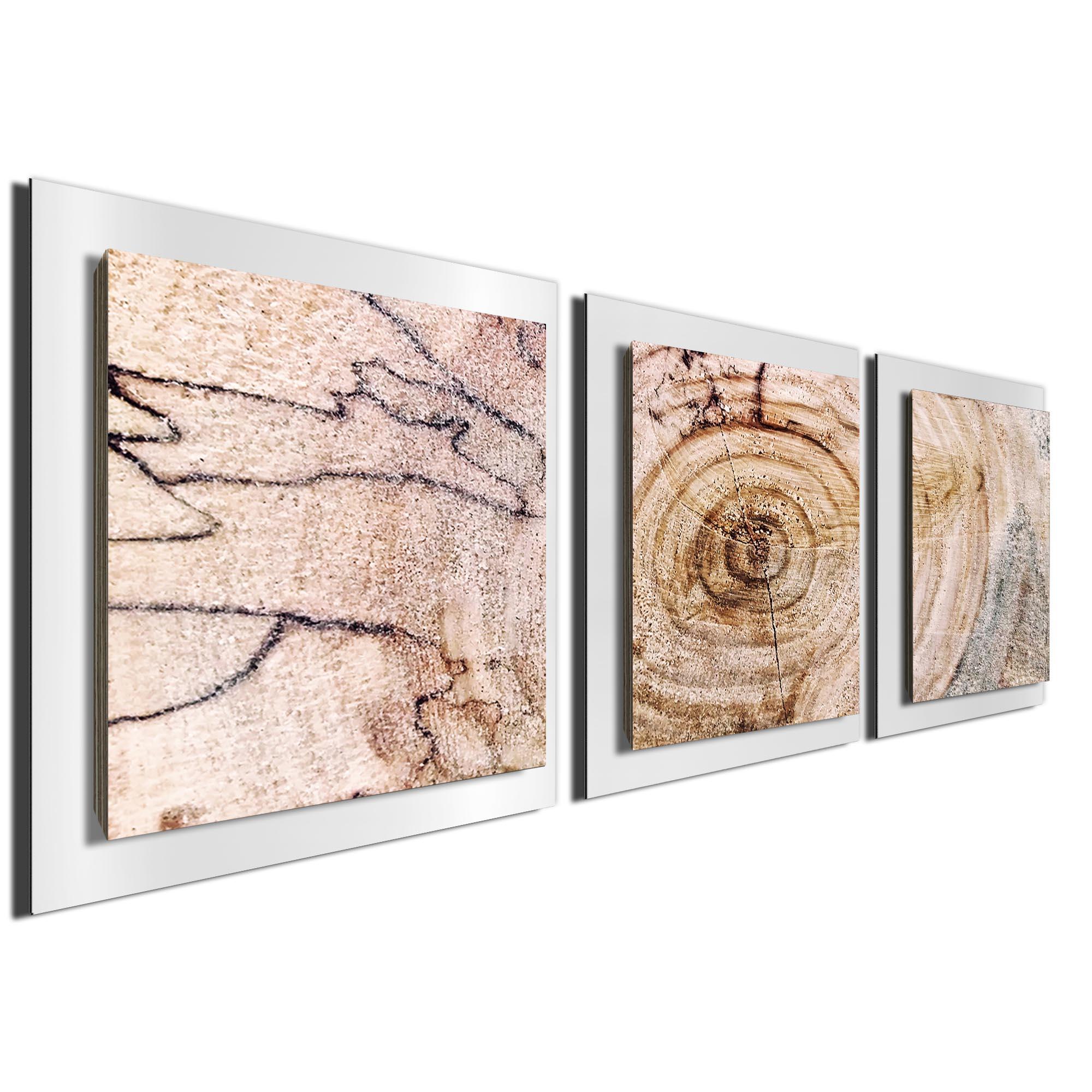 Aged Wood Essence White by Adam Schwoeppe Rustic Modern Style Wood Wall Art - Image 2