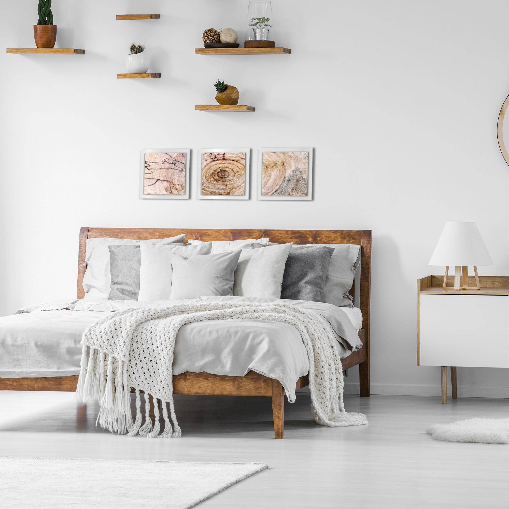 Aged Wood Essence White by Adam Schwoeppe Rustic Modern Style Wood Wall Art - Lifestyle View