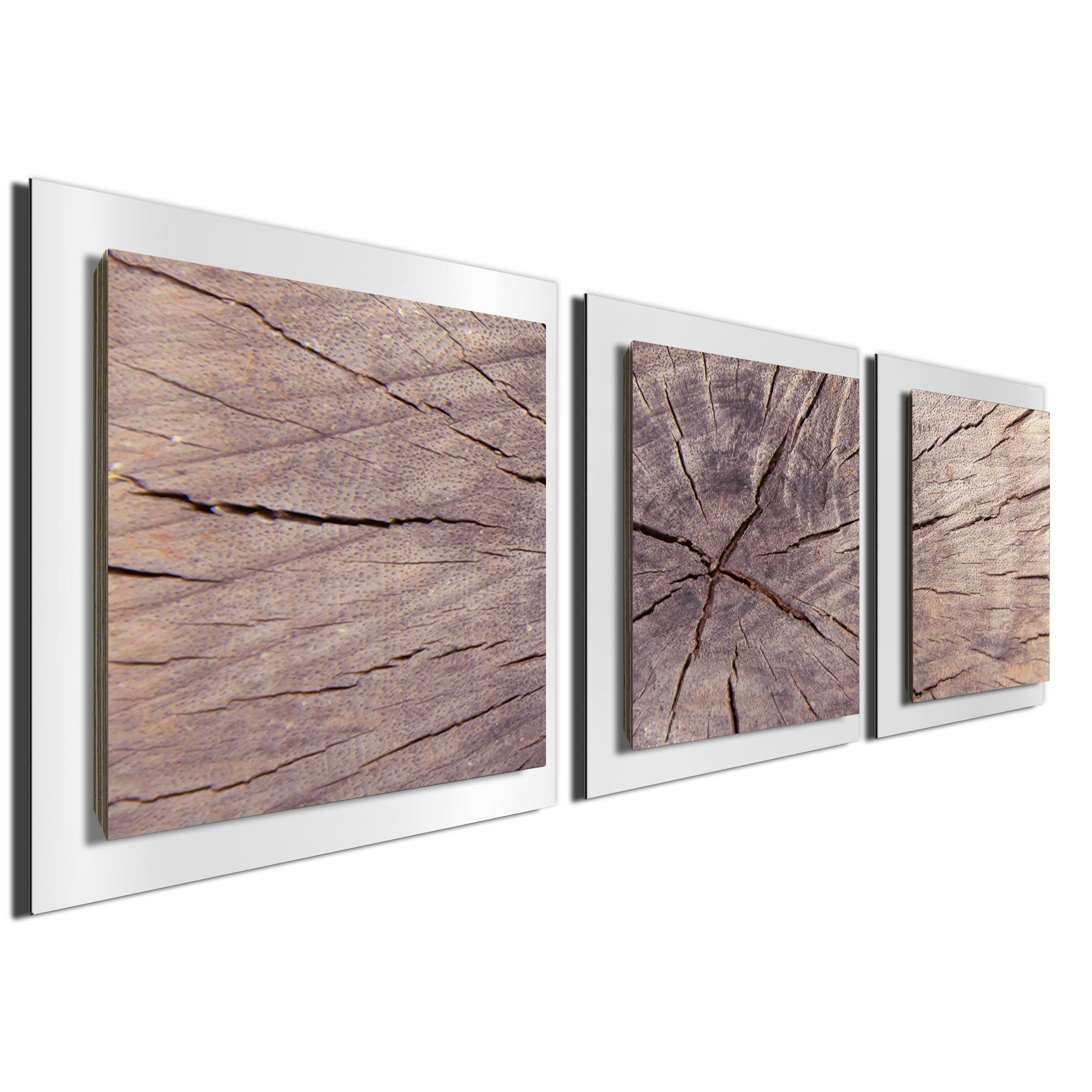 Cracked Wood Essence White by Adam Schwoeppe Rustic Modern Style Wood Wall Art - Image 2