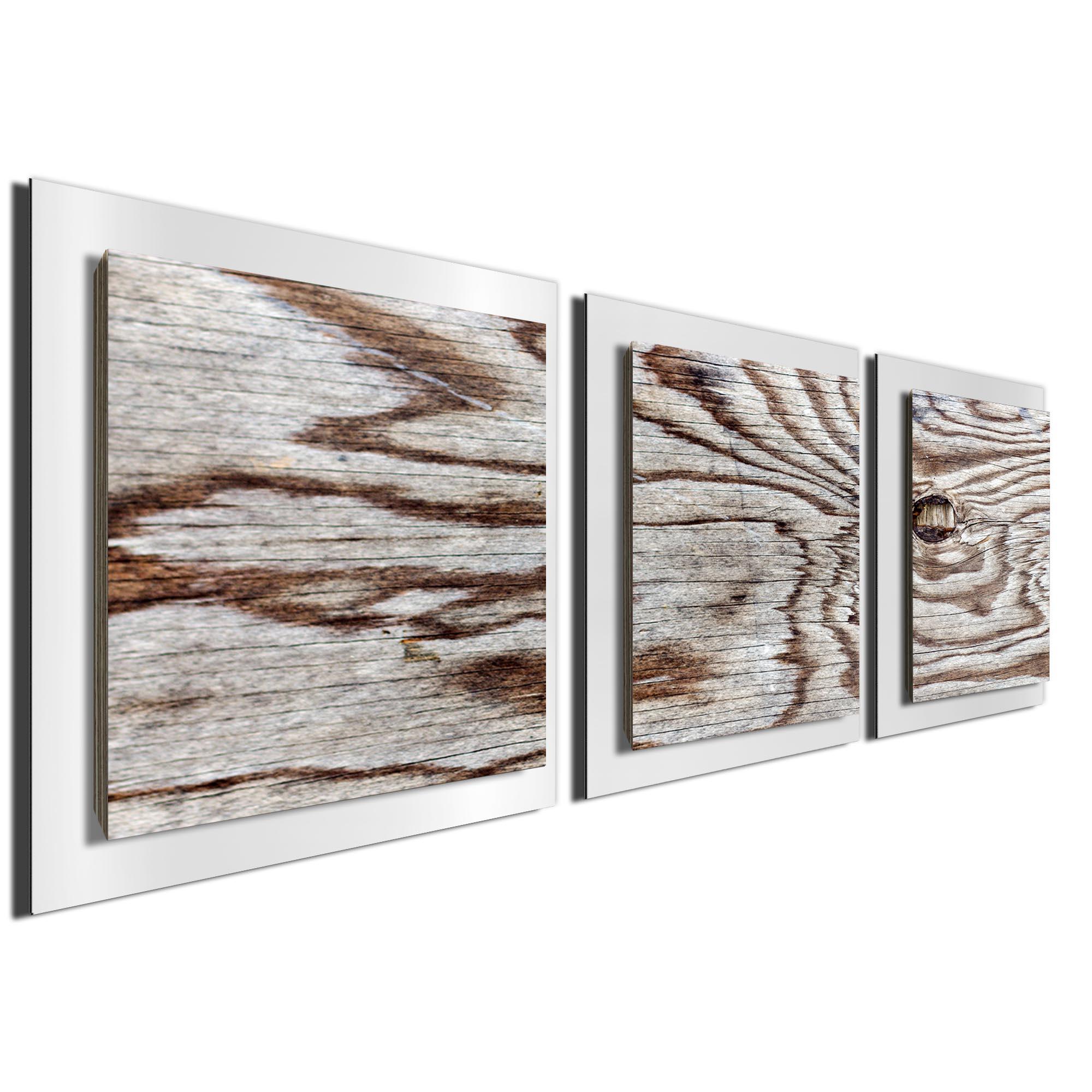 Weathered Wood Essence White by Adam Schwoeppe Rustic Modern Style Wood Wall Art - Image 2