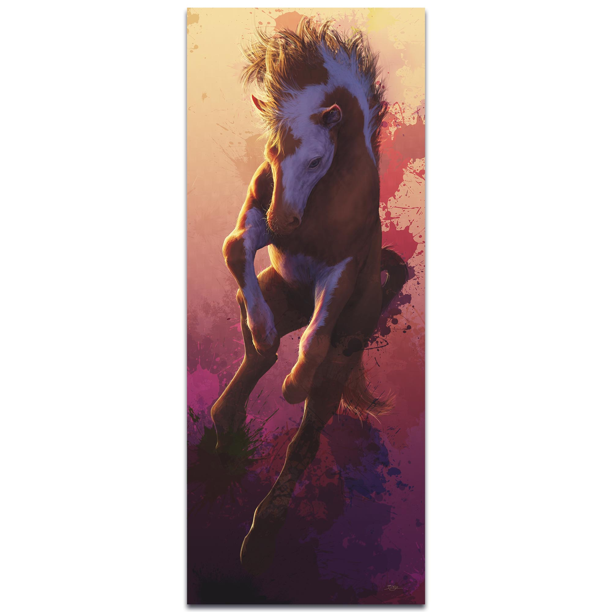 Contemporary Horse Painting 'Urban Colt' - Modern Western Decor on Metal or Acrylic