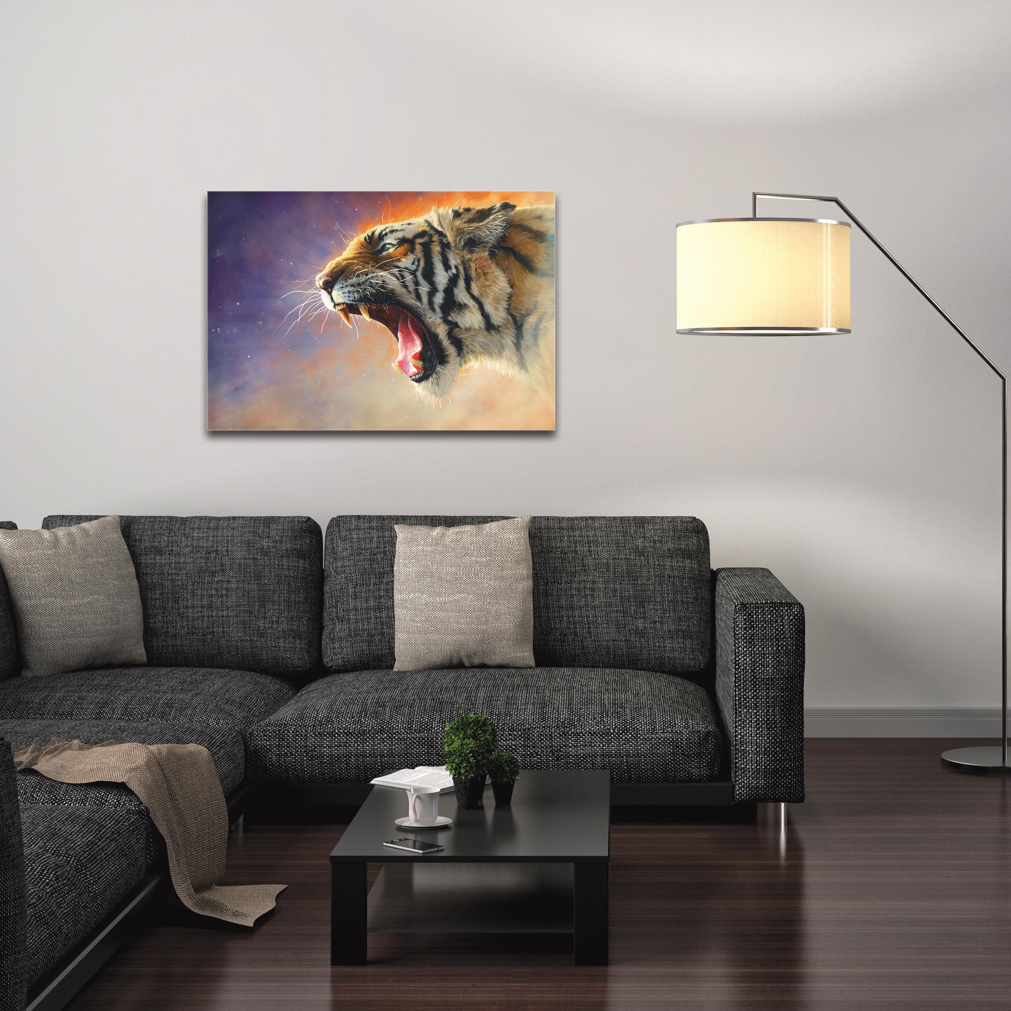 Expressionist Wall Art 'Fear Me' - Wildlife Decor on Metal or Plexiglass - Image 3