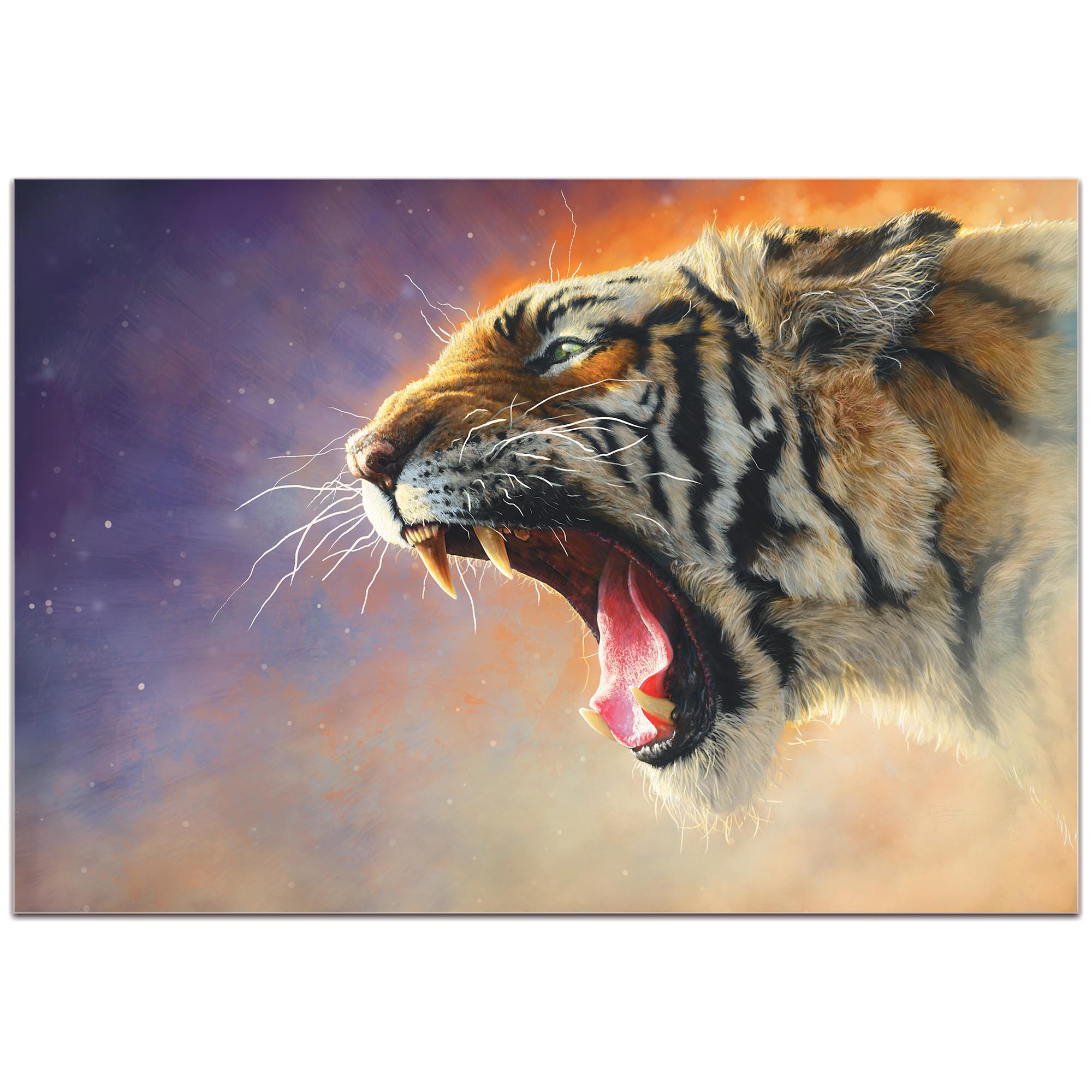 Expressionist Wall Art 'Fear Me' - Wildlife Decor on Metal or Plexiglass - Image 2