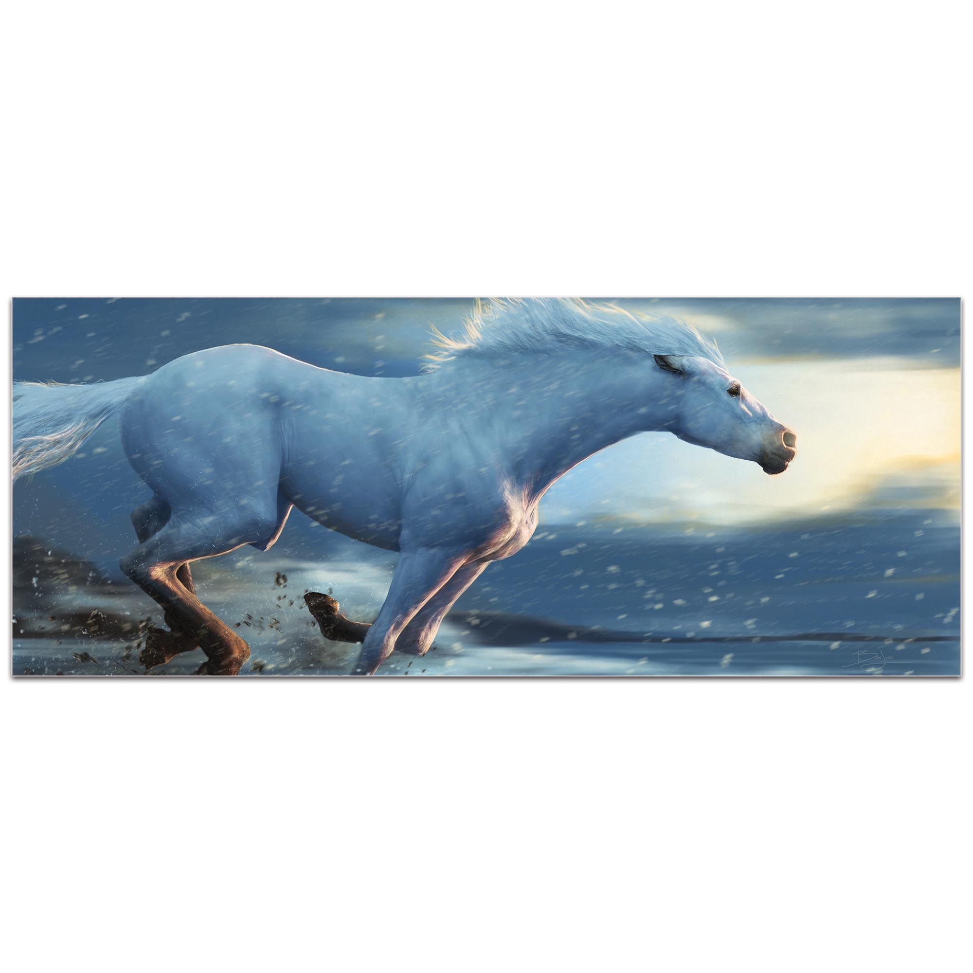 Expressionist Wall Art 'Running Horse' - Wildlife Decor on Metal or Plexiglass - Image 2