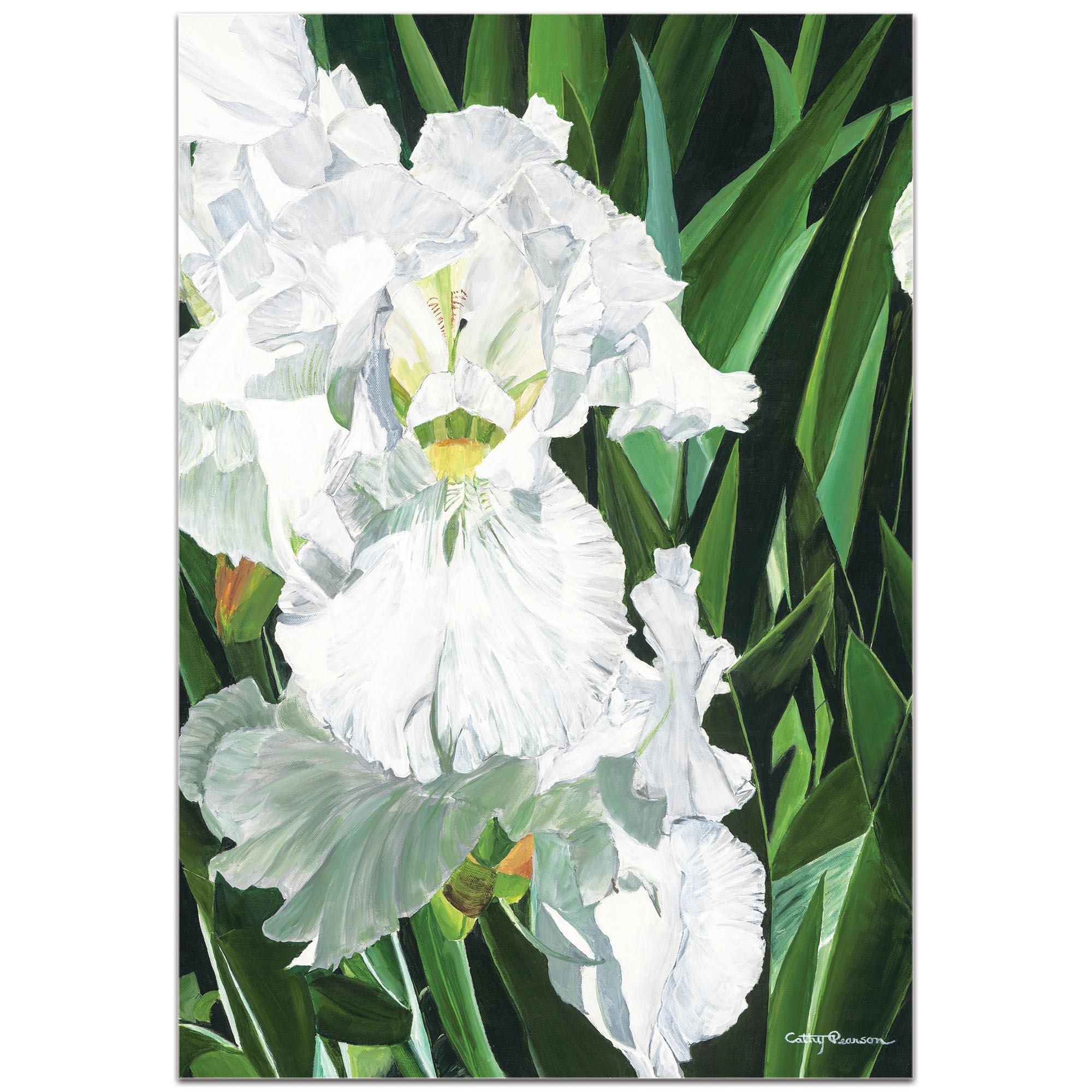 Traditional Wall Art 'Helens Iris' - Floral Decor on Metal or Plexiglass - Image 2