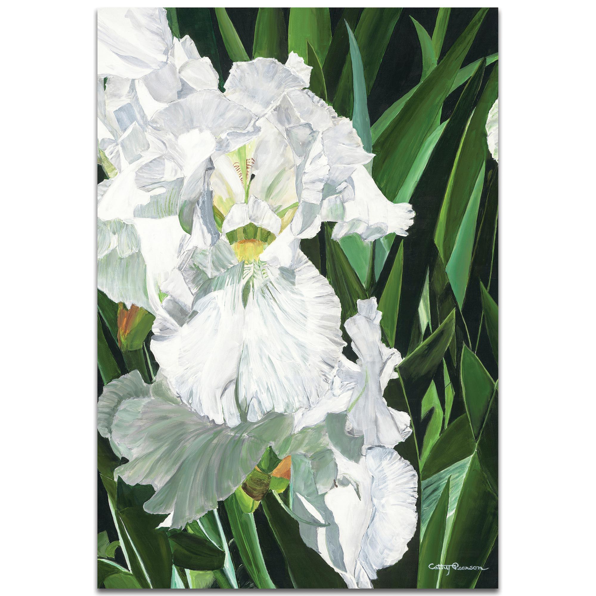 Traditional Wall Art 'Helens Iris' - Floral Decor on Metal or Plexiglass