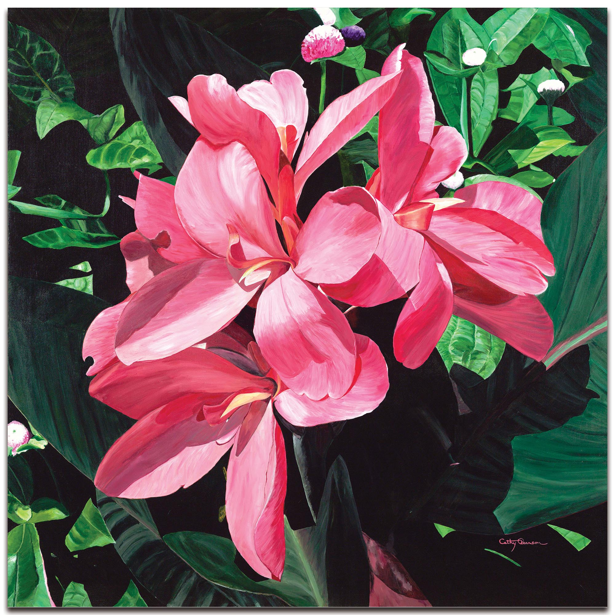 Traditional Wall Art 'Exotic Lilies' - Floral Decor on Metal or Plexiglass