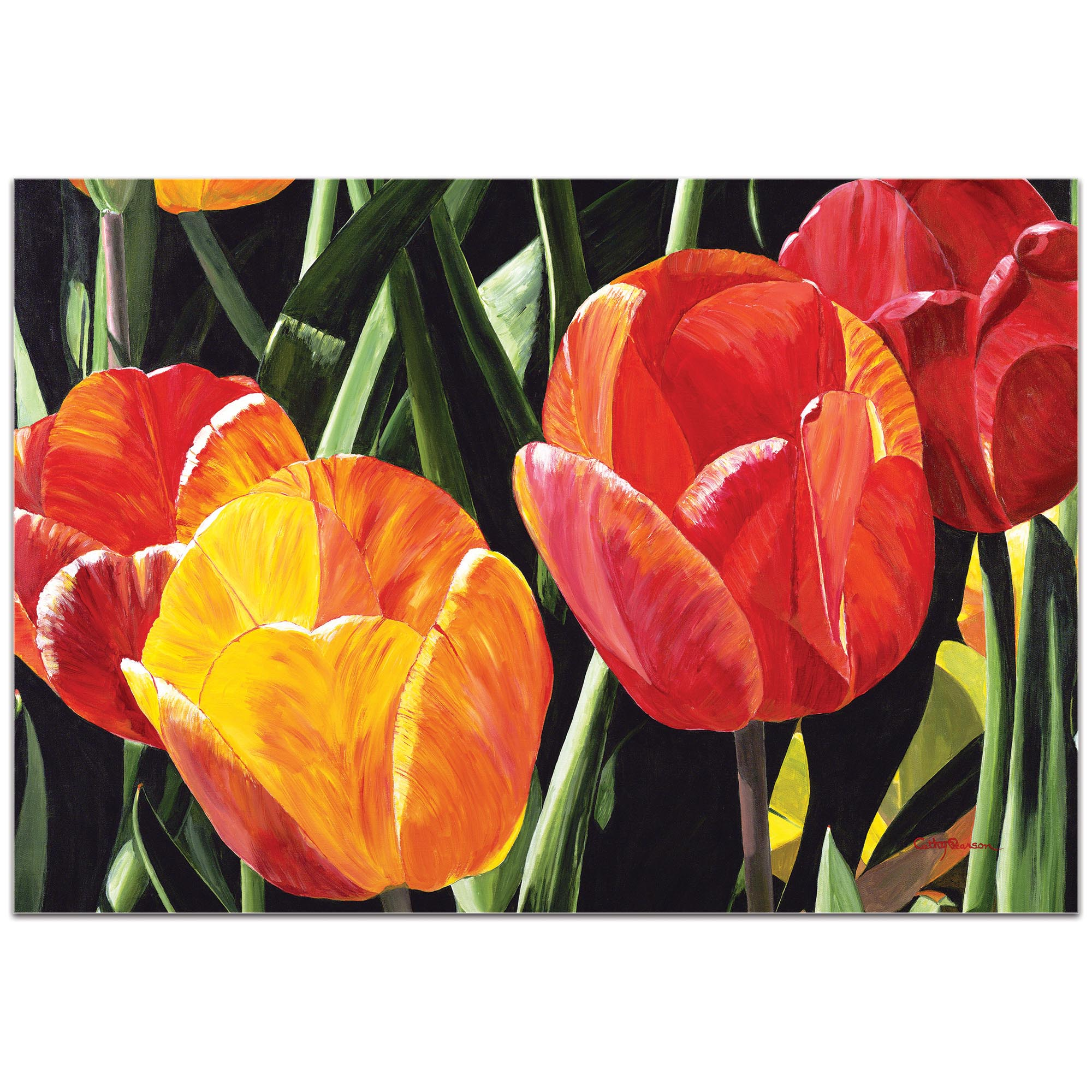 Traditional Wall Art 'Tulip Field' - Floral Decor on Metal or Plexiglass - Image 2
