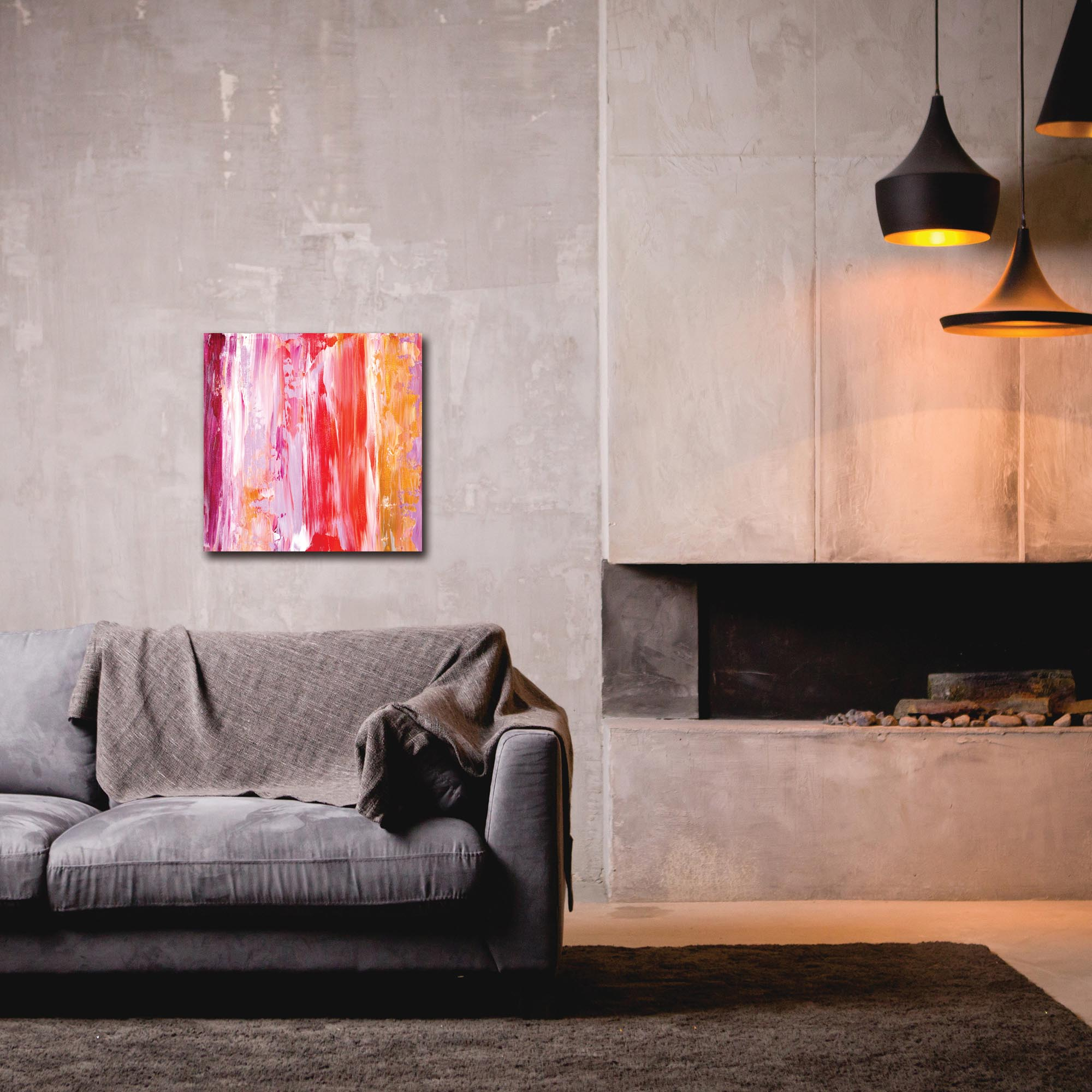 Abstract Wall Art 'Urban Life 4' - Urban Decor on Metal or Plexiglass - Lifestyle View