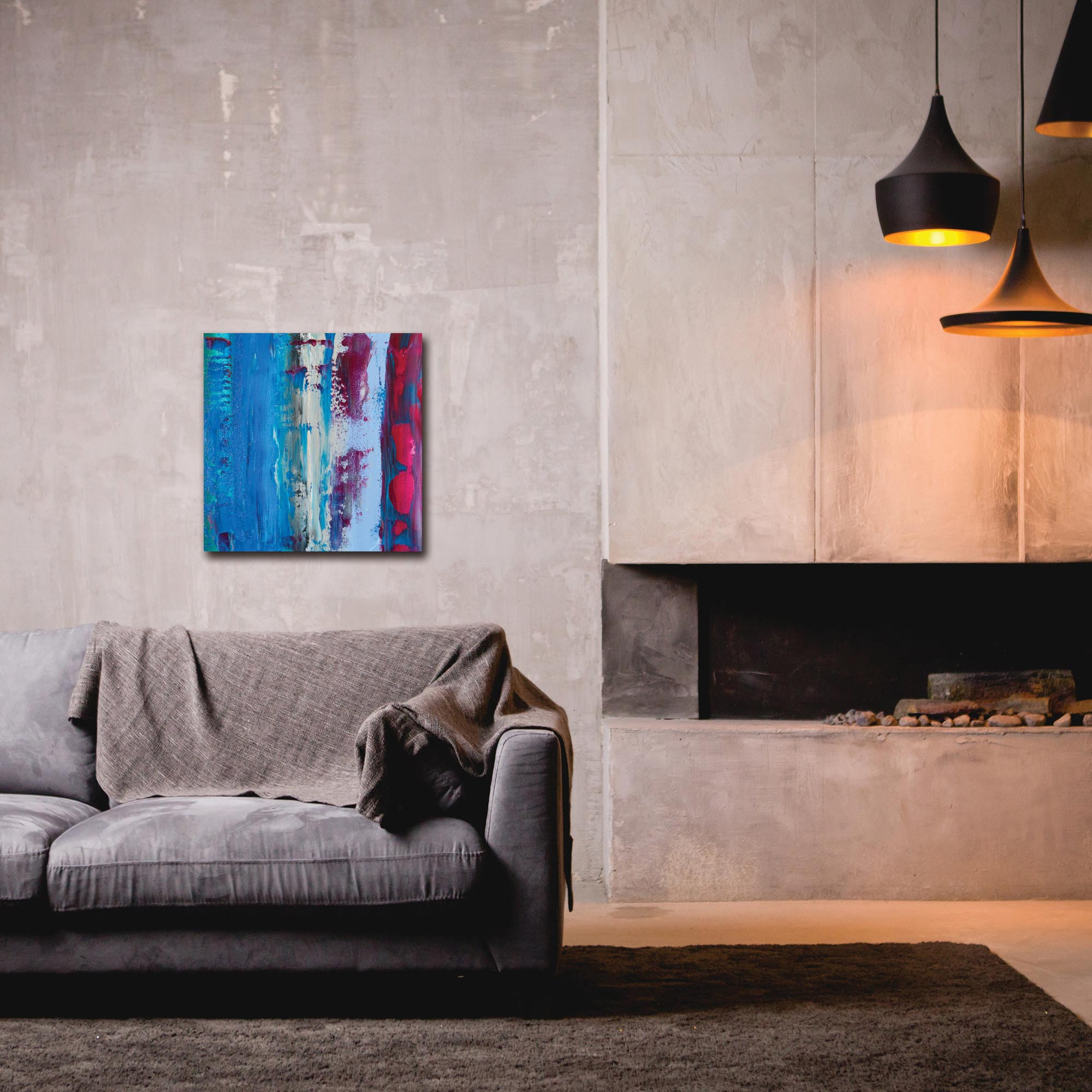 Abstract Wall Art 'Urban Life 9' - Urban Decor on Metal or Plexiglass - Lifestyle View