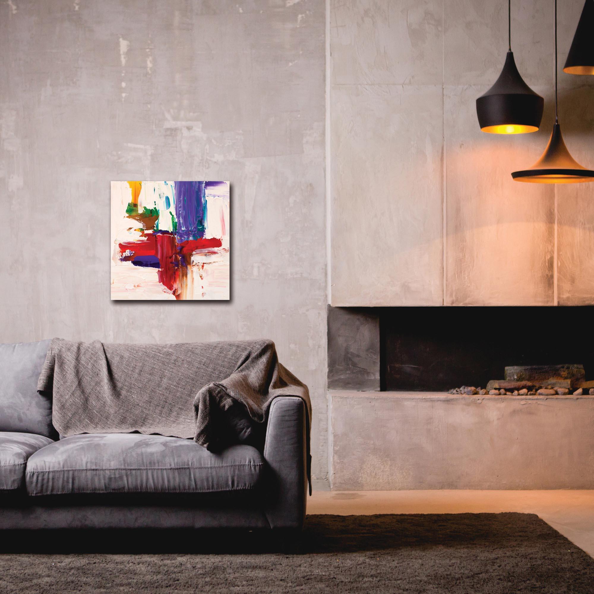 Abstract Wall Art 'Urban Life 10' - Urban Decor on Metal or Plexiglass - Lifestyle View