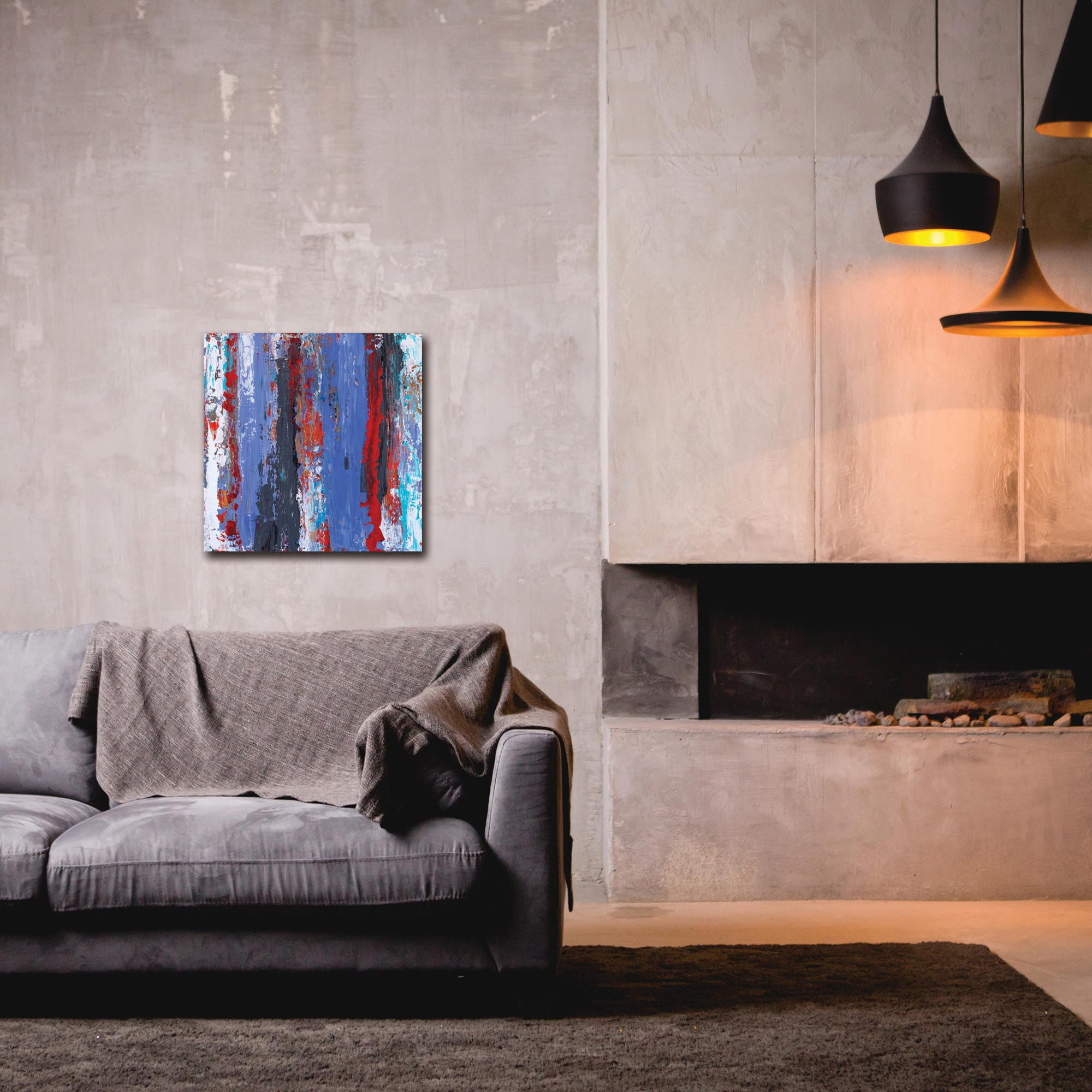 Abstract Wall Art 'Urban Life 15' - Urban Decor on Metal or Plexiglass - Lifestyle View