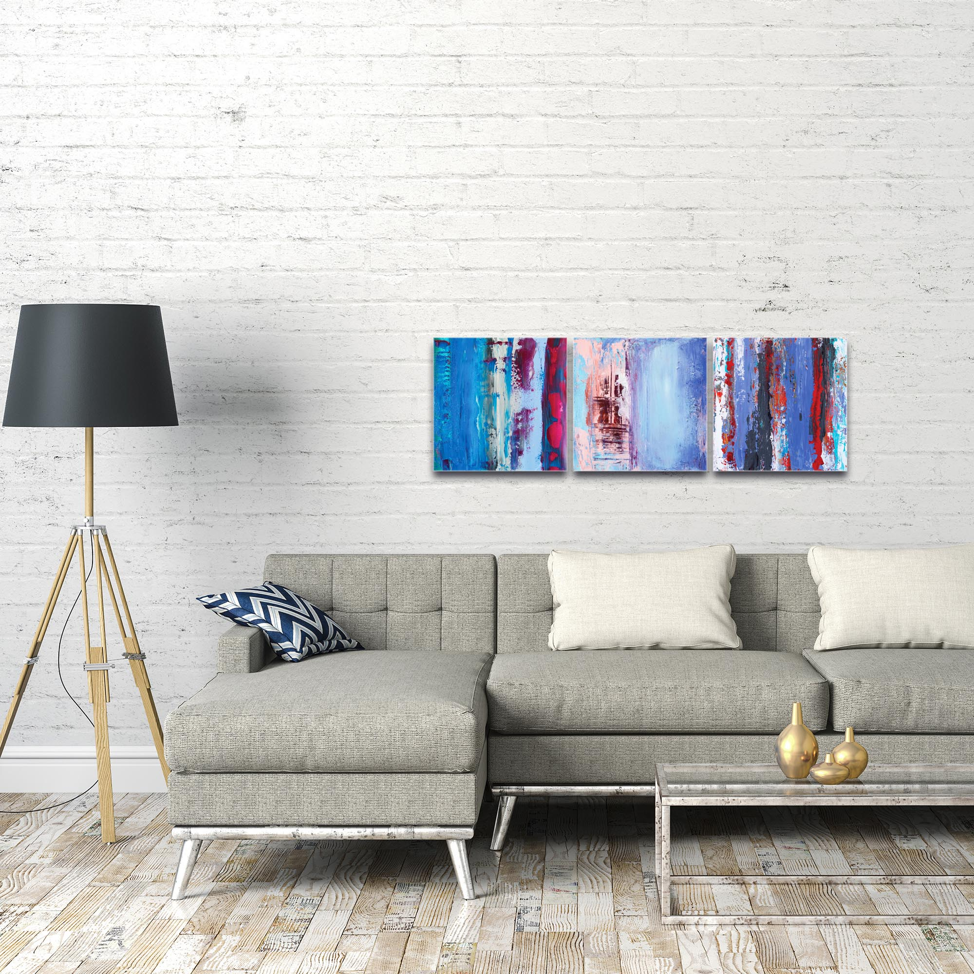 Abstract Wall Art 'Urban Triptych 1' - Urban Decor on Metal or Plexiglass - Image 3