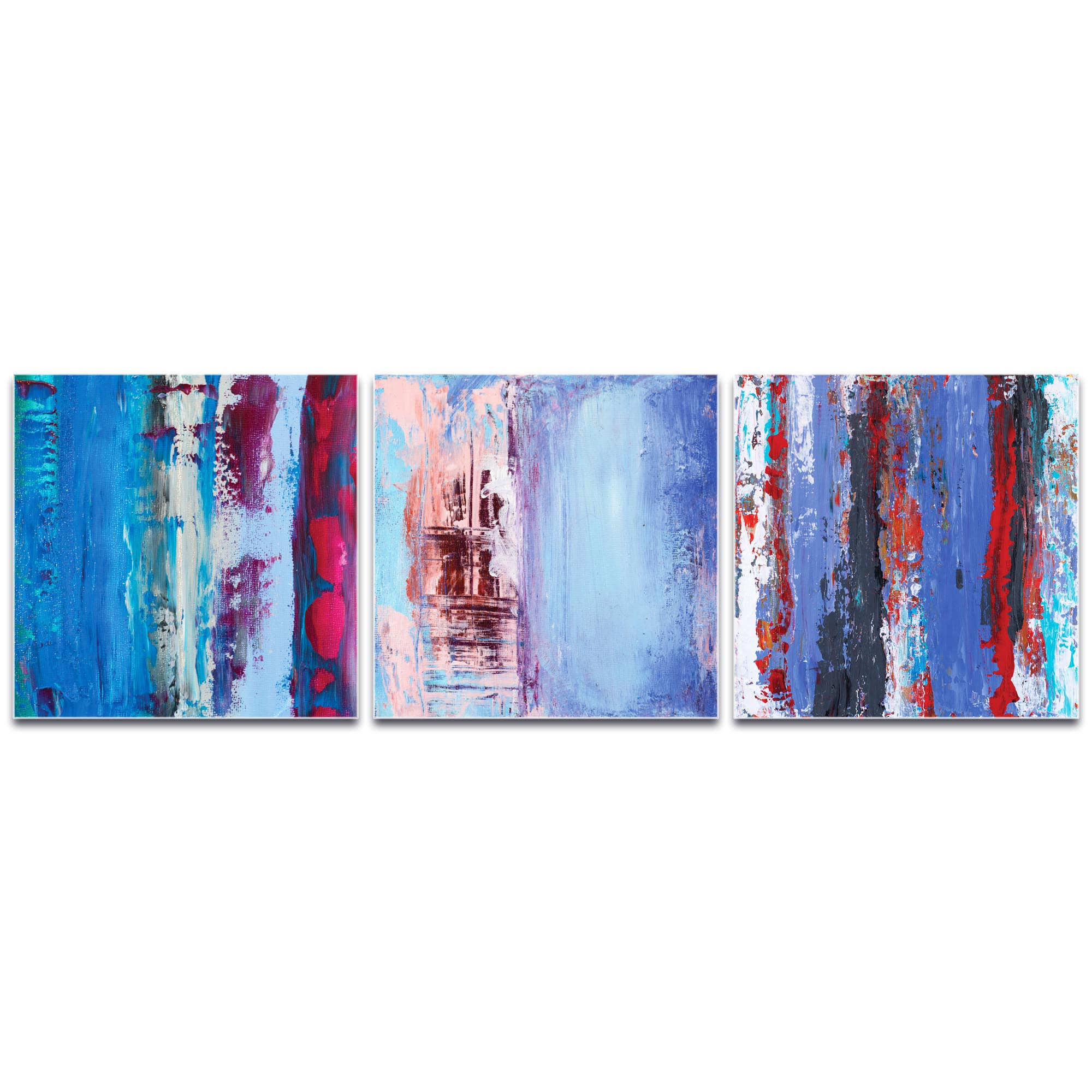 Abstract Wall Art 'Urban Triptych 1 Large' - Urban Decor on Metal or Plexiglass - Image 2