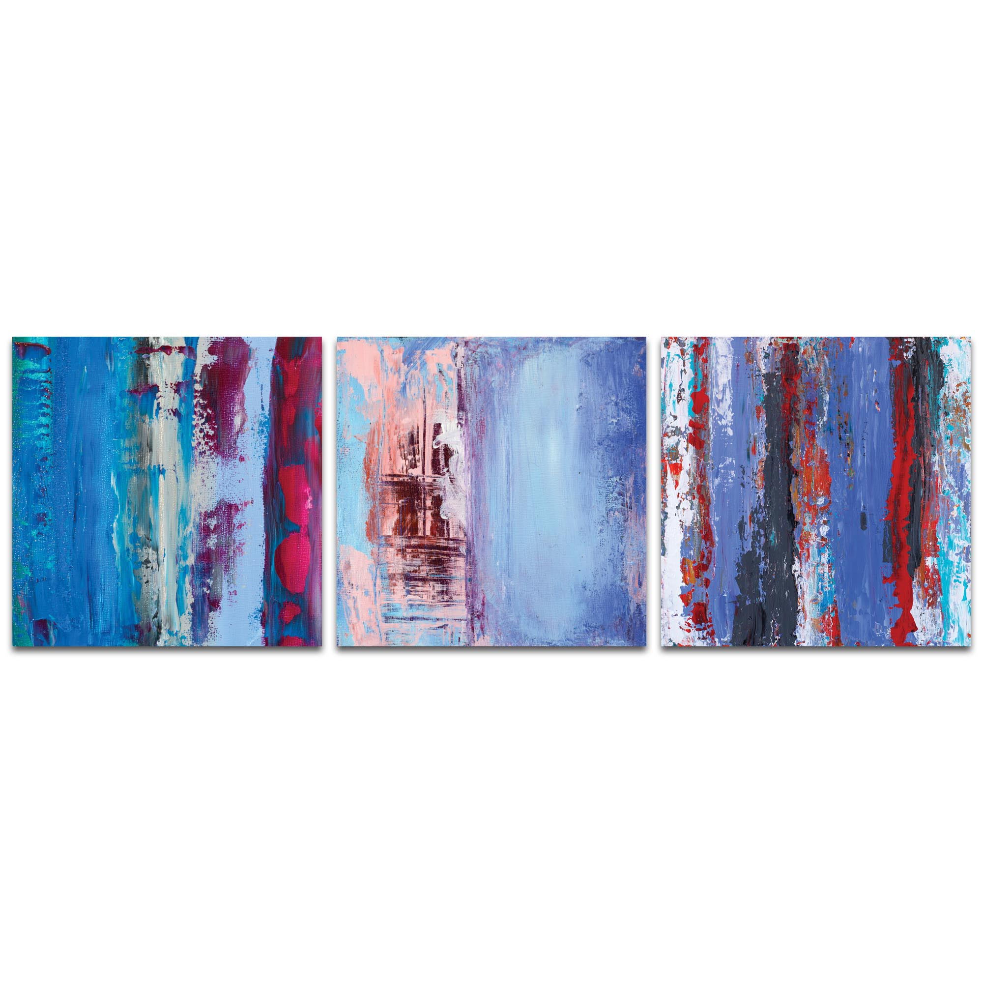 Abstract Wall Art 'Urban Triptych 1 Large' - Urban Decor on Metal or Plexiglass