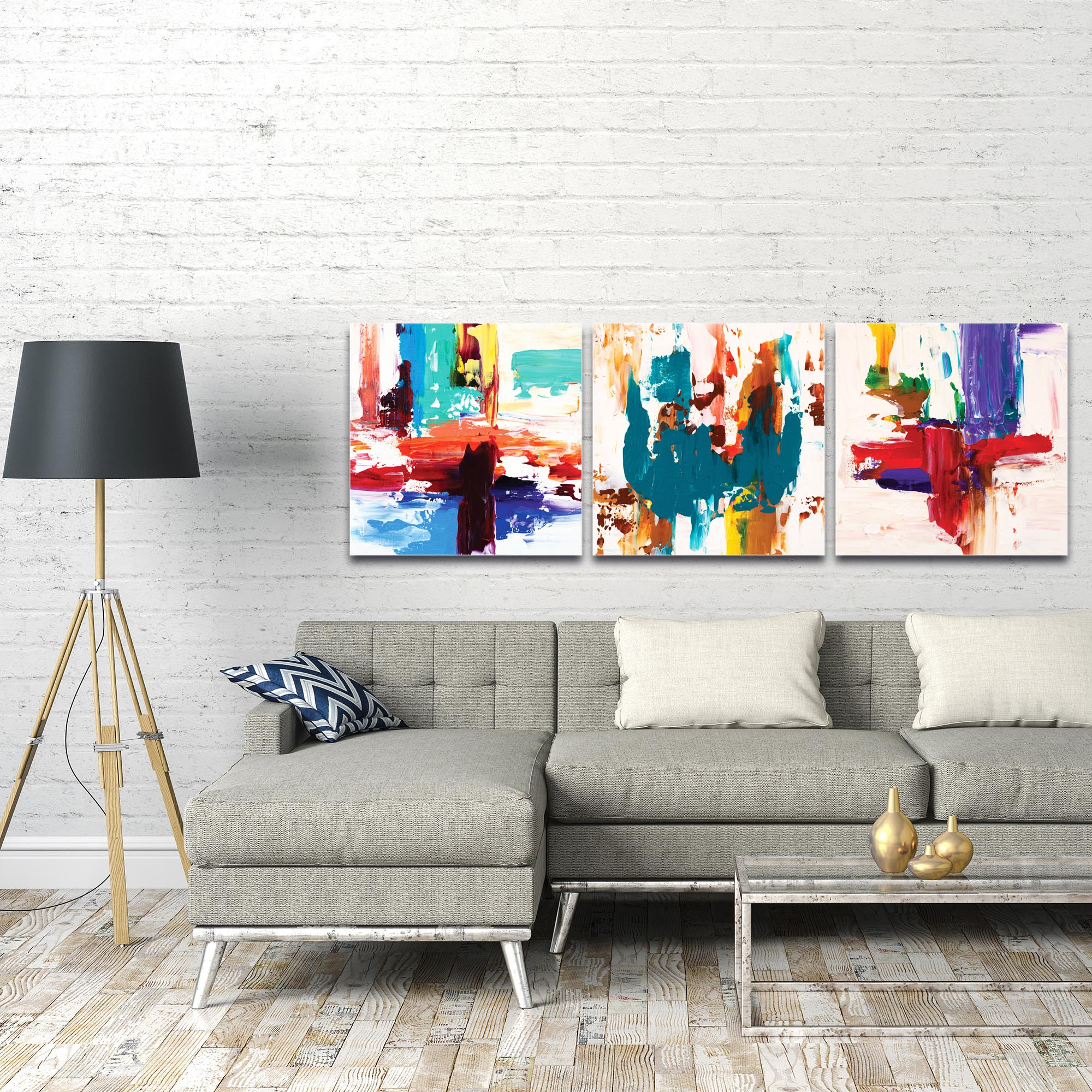 Abstract Wall Art 'Urban Triptych 2 Large' - Urban Decor on Metal or Plexiglass - Image 3