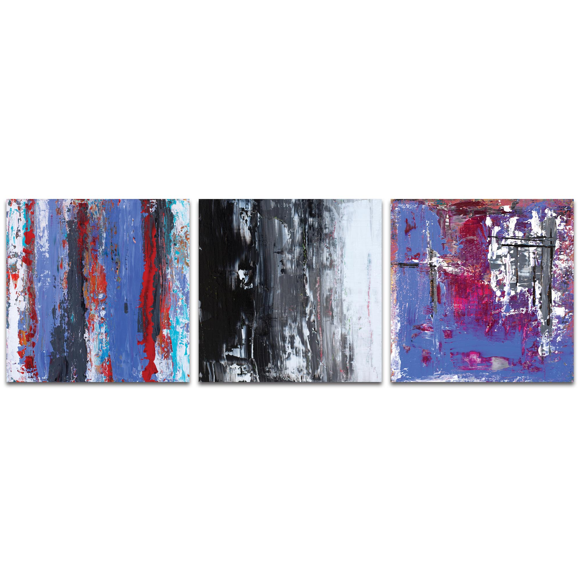 Abstract Wall Art 'Urban Triptych 4' - Urban Decor on Metal or Plexiglass