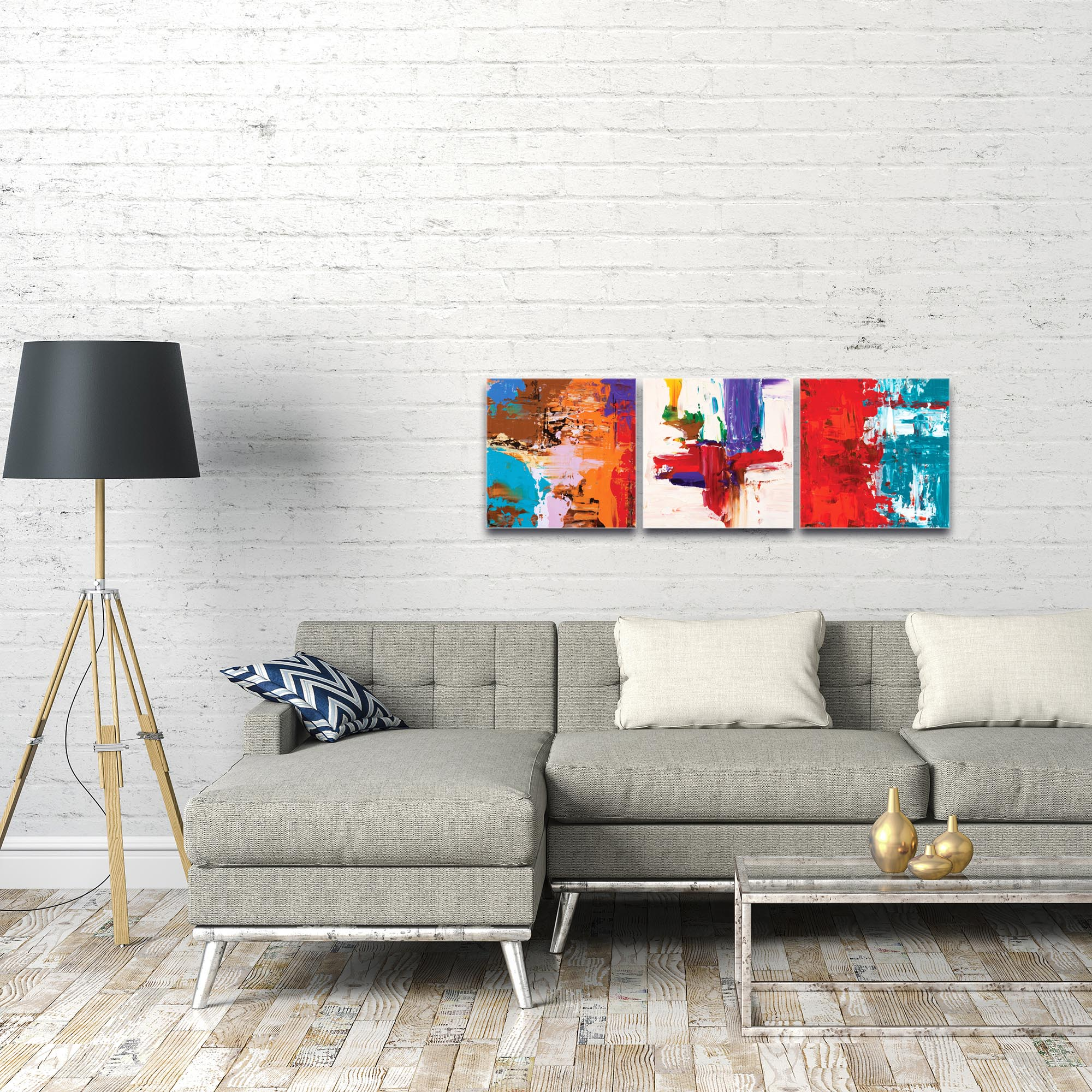 Abstract Wall Art 'Urban Triptych 5' - Urban Decor on Metal or Plexiglass - Image 3
