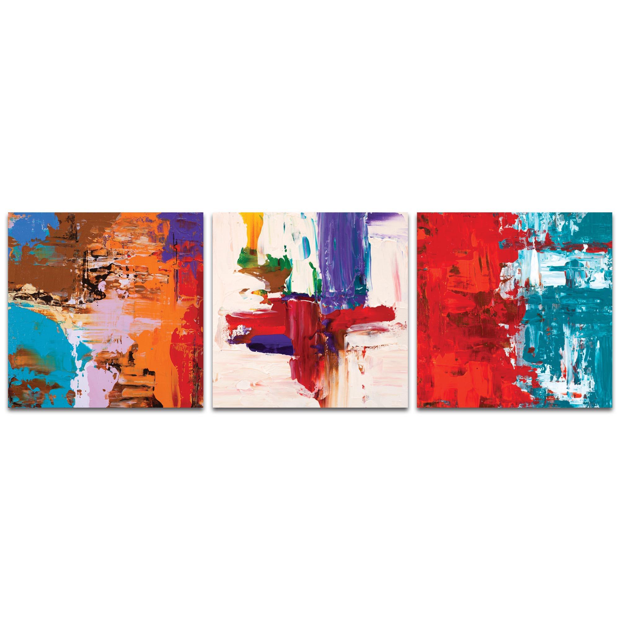 Abstract Wall Art Urban Triptych 5 Large Decor On Metal Or Plexigl
