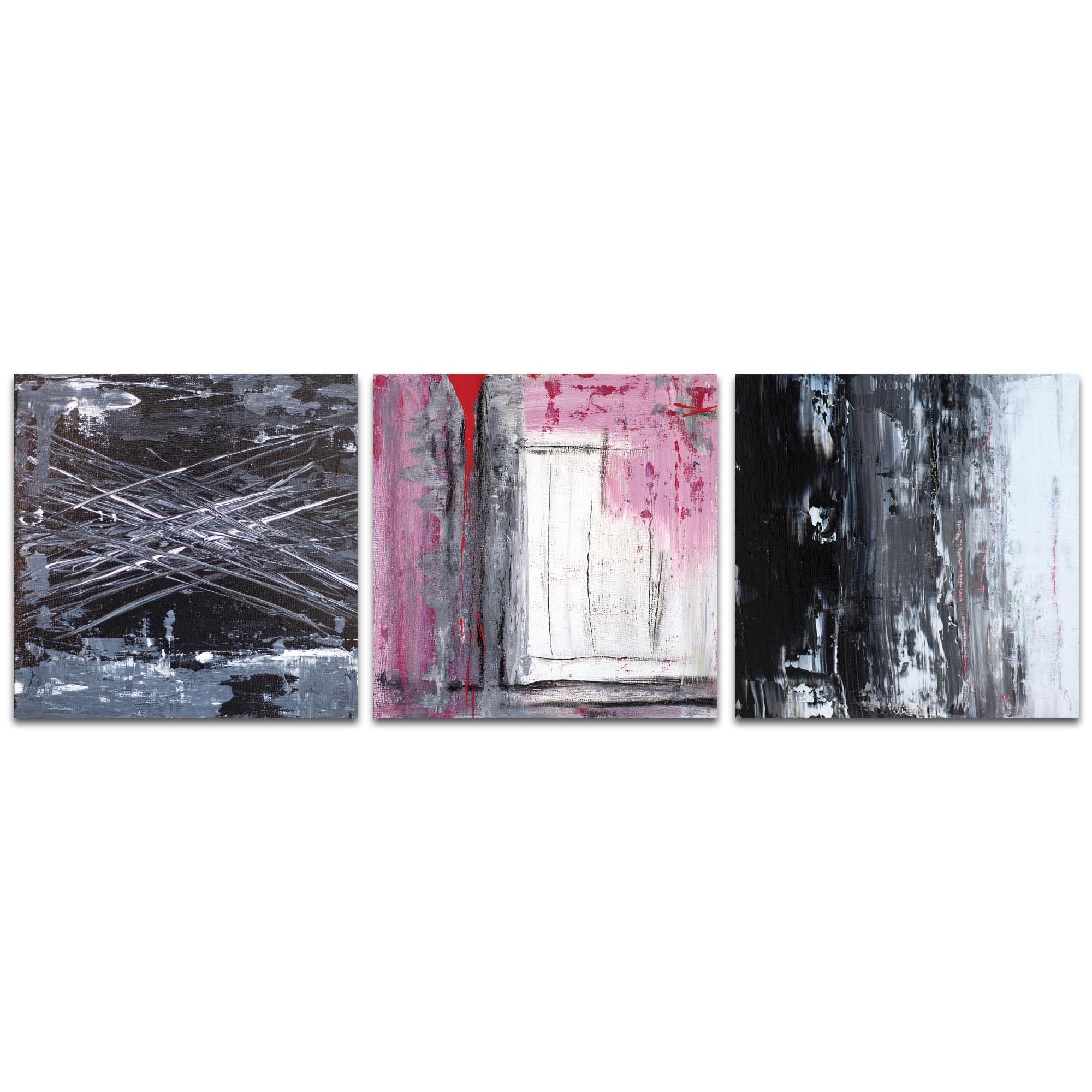 Abstract Wall Art 'Urban Triptych 6' - Urban Decor on Metal or Plexiglass